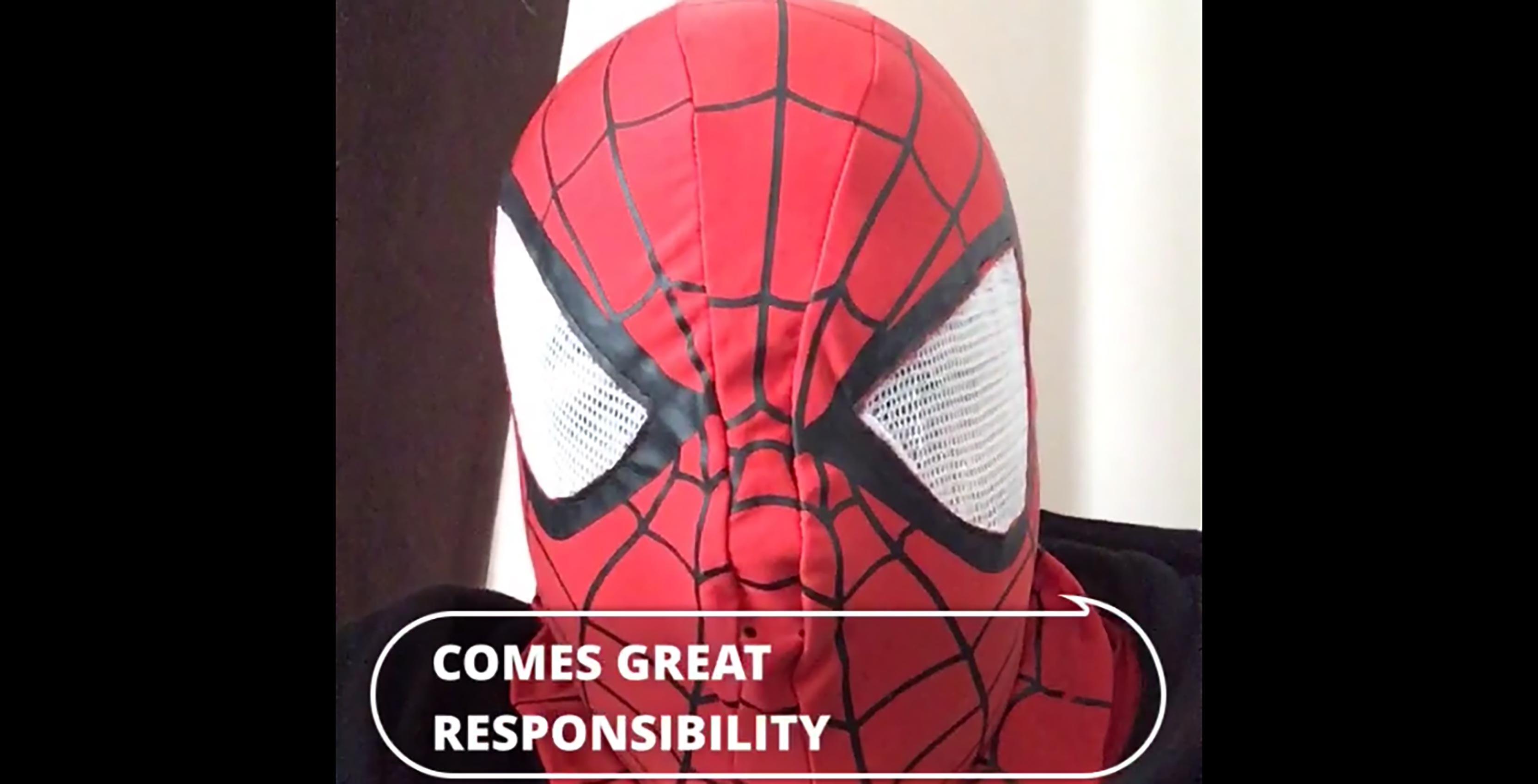 Clipomatic app Spider-Man