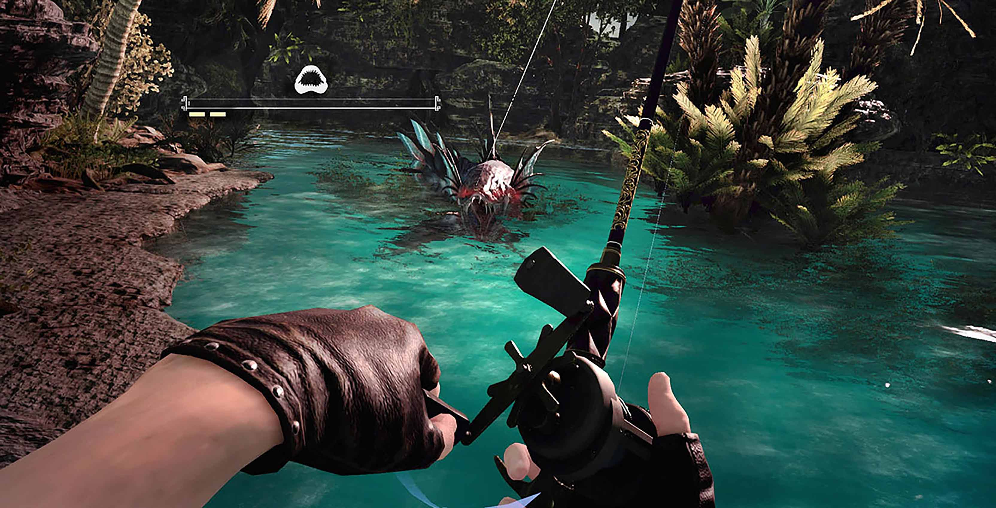 Monster of the deep final fantasy xv fishing in vr is for Final fantasy 15 fishing