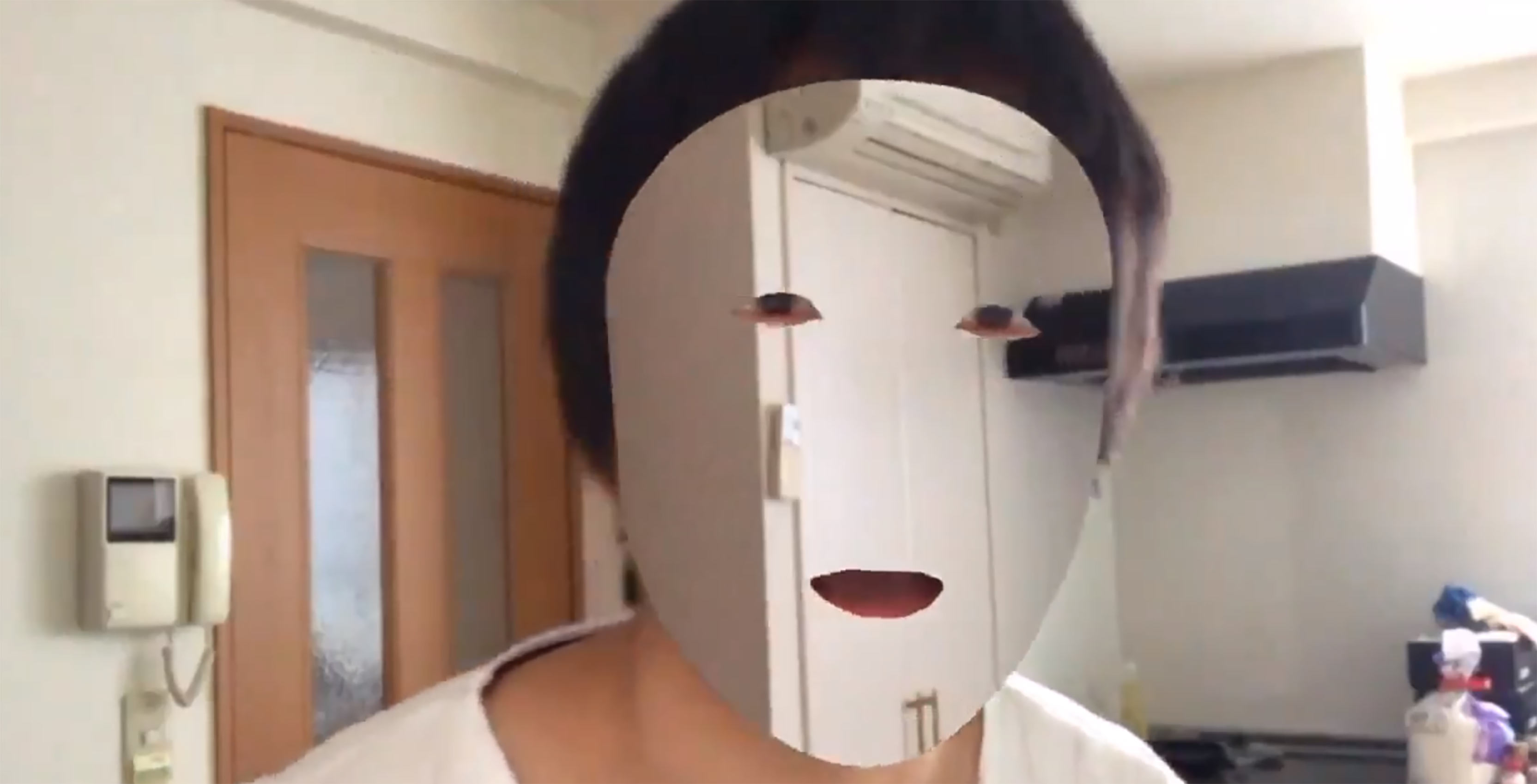 App that hides faces developed by Kazuya Noshiro