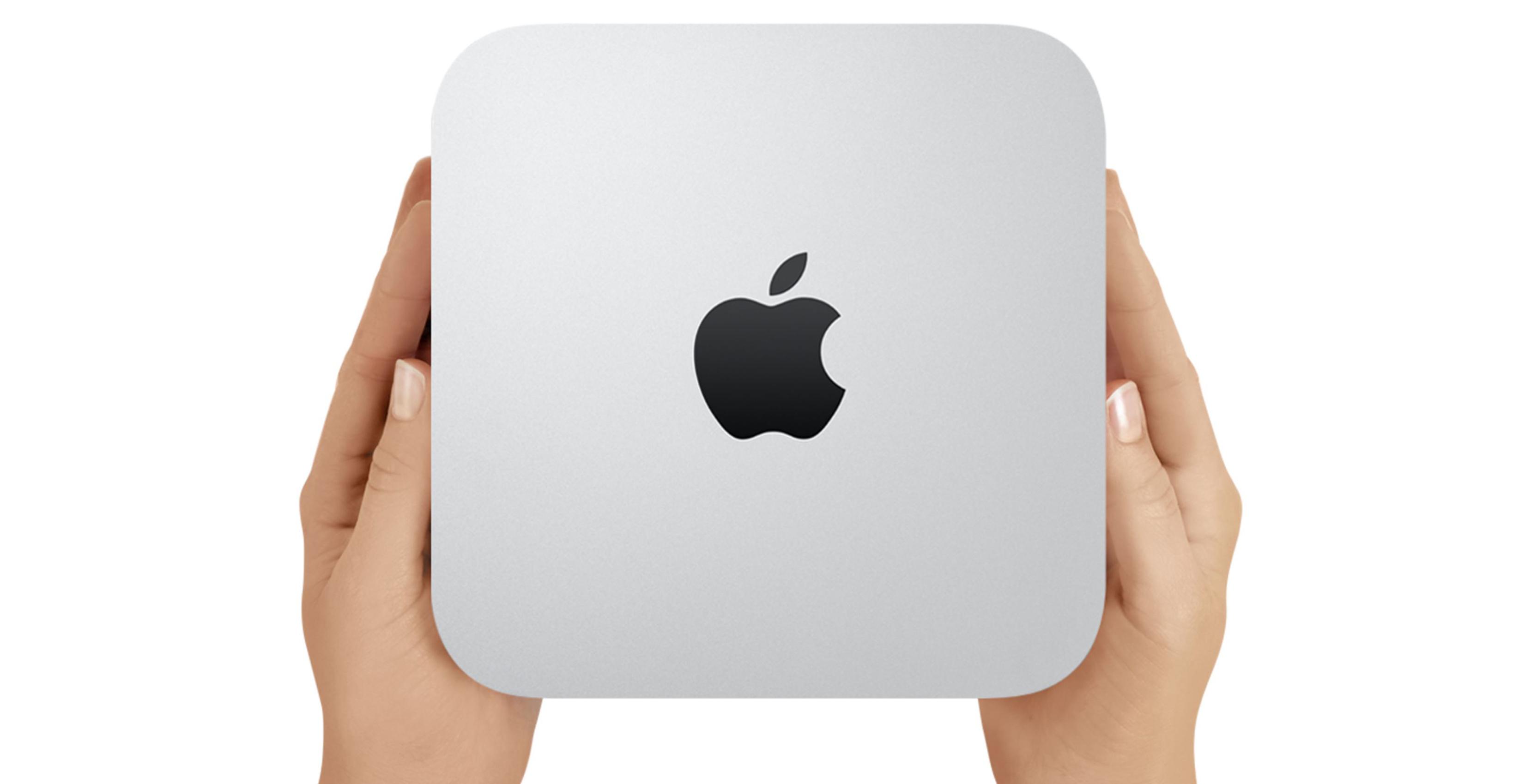 Mac mini in the hands