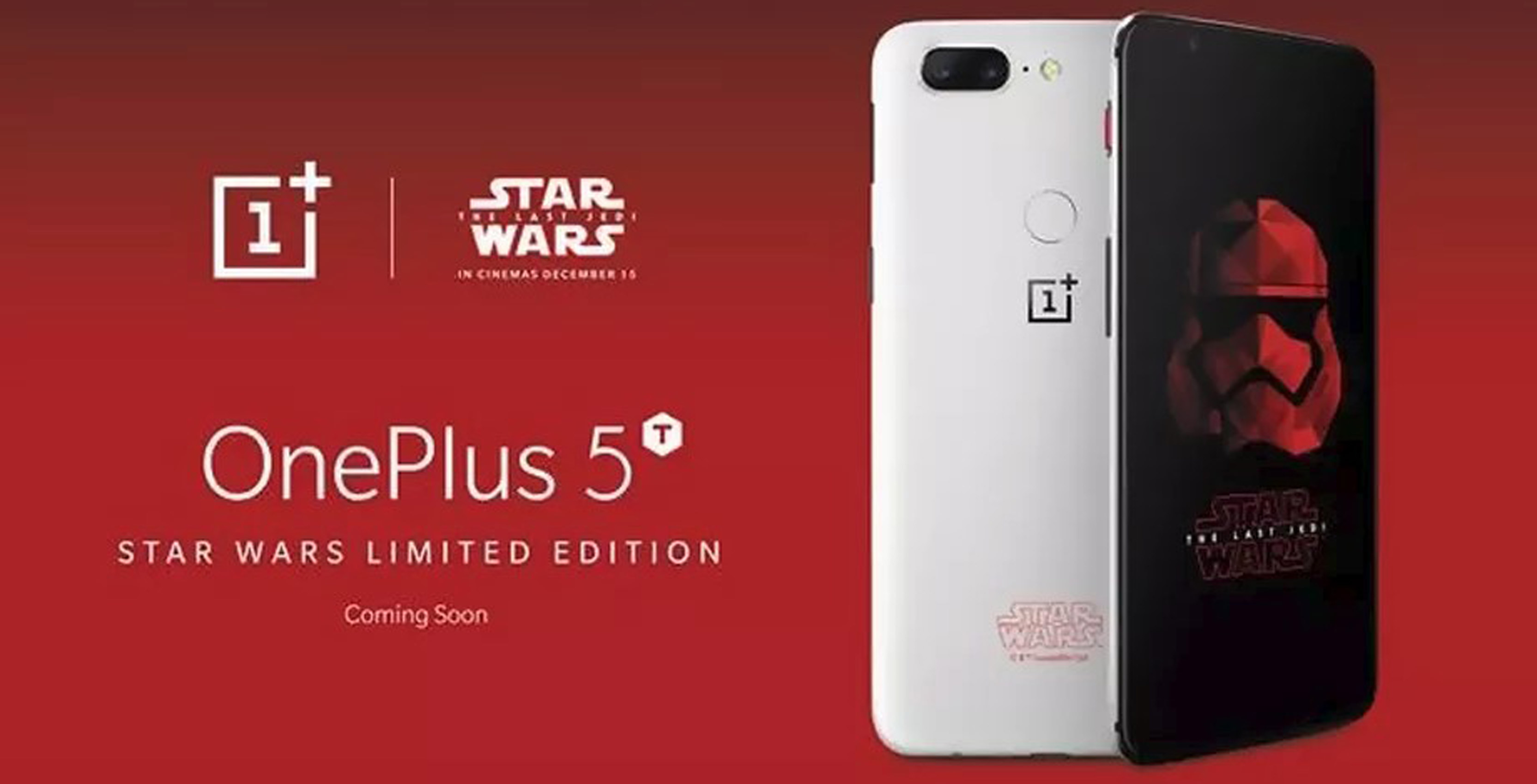 Star Wars-themed OnePlus 5T smartphone