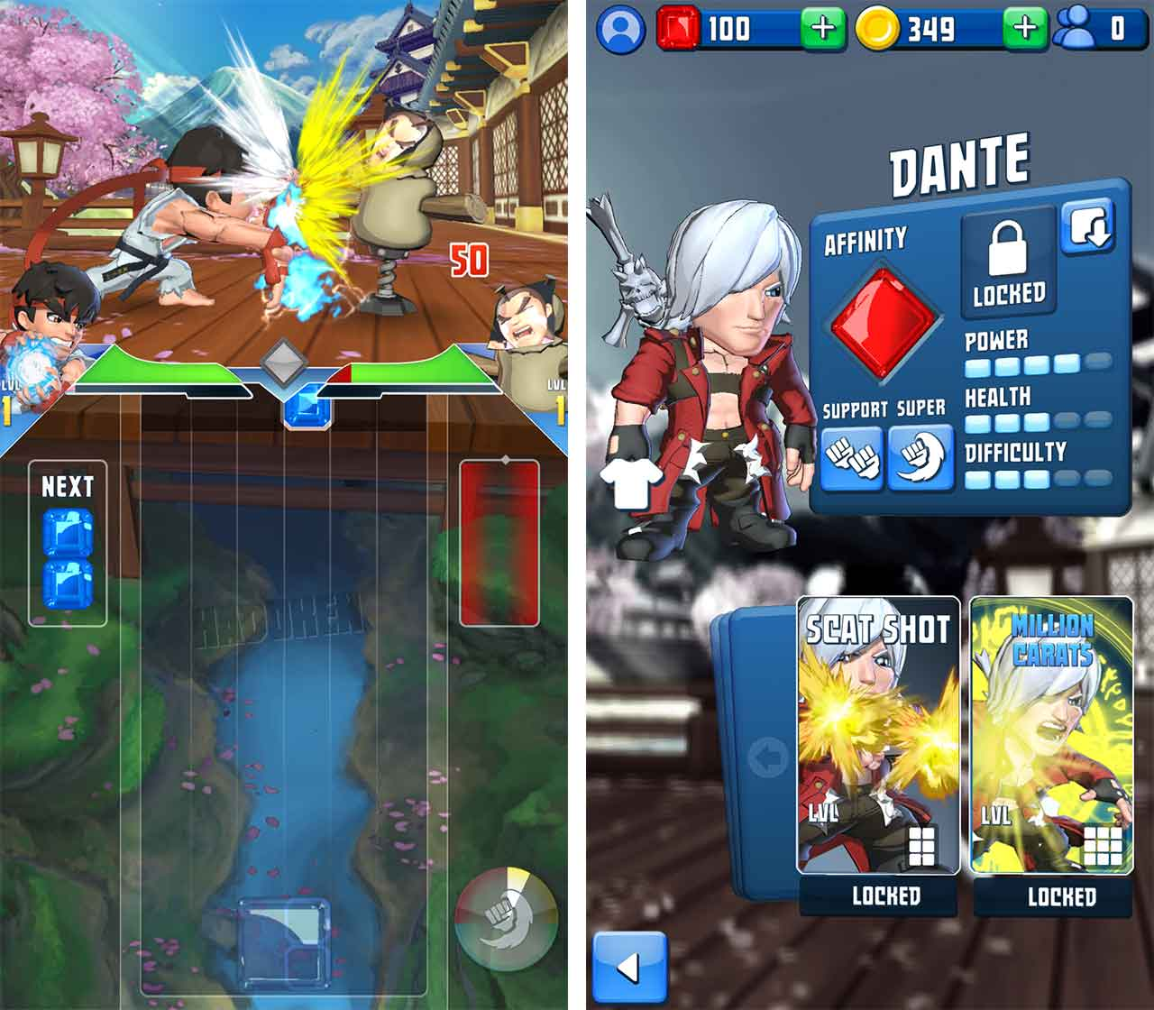 Puzzle Fighter Dante