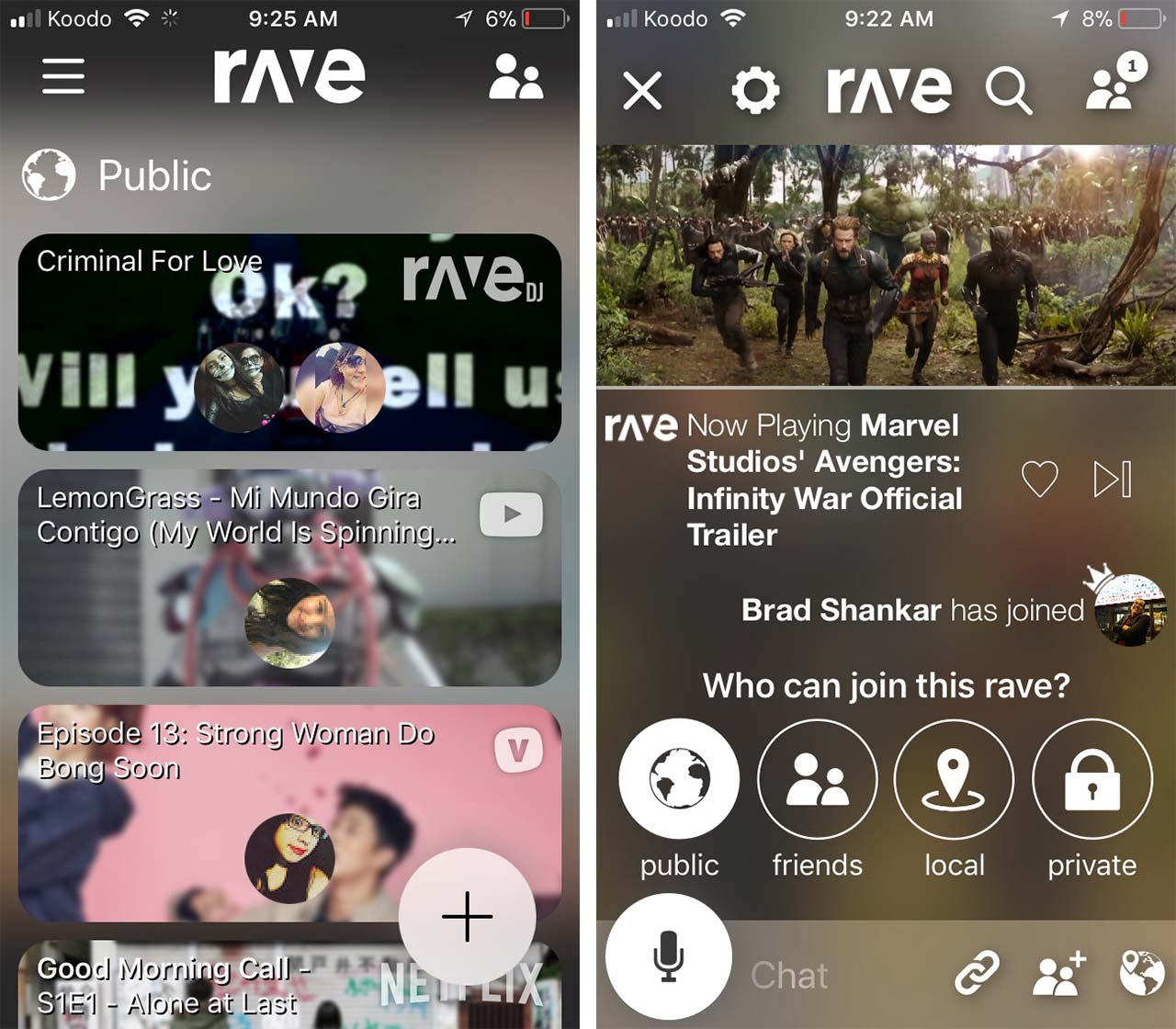 Rave app