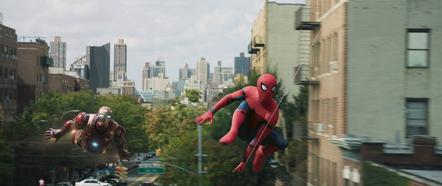 Spider-Man and Iron Man in New York