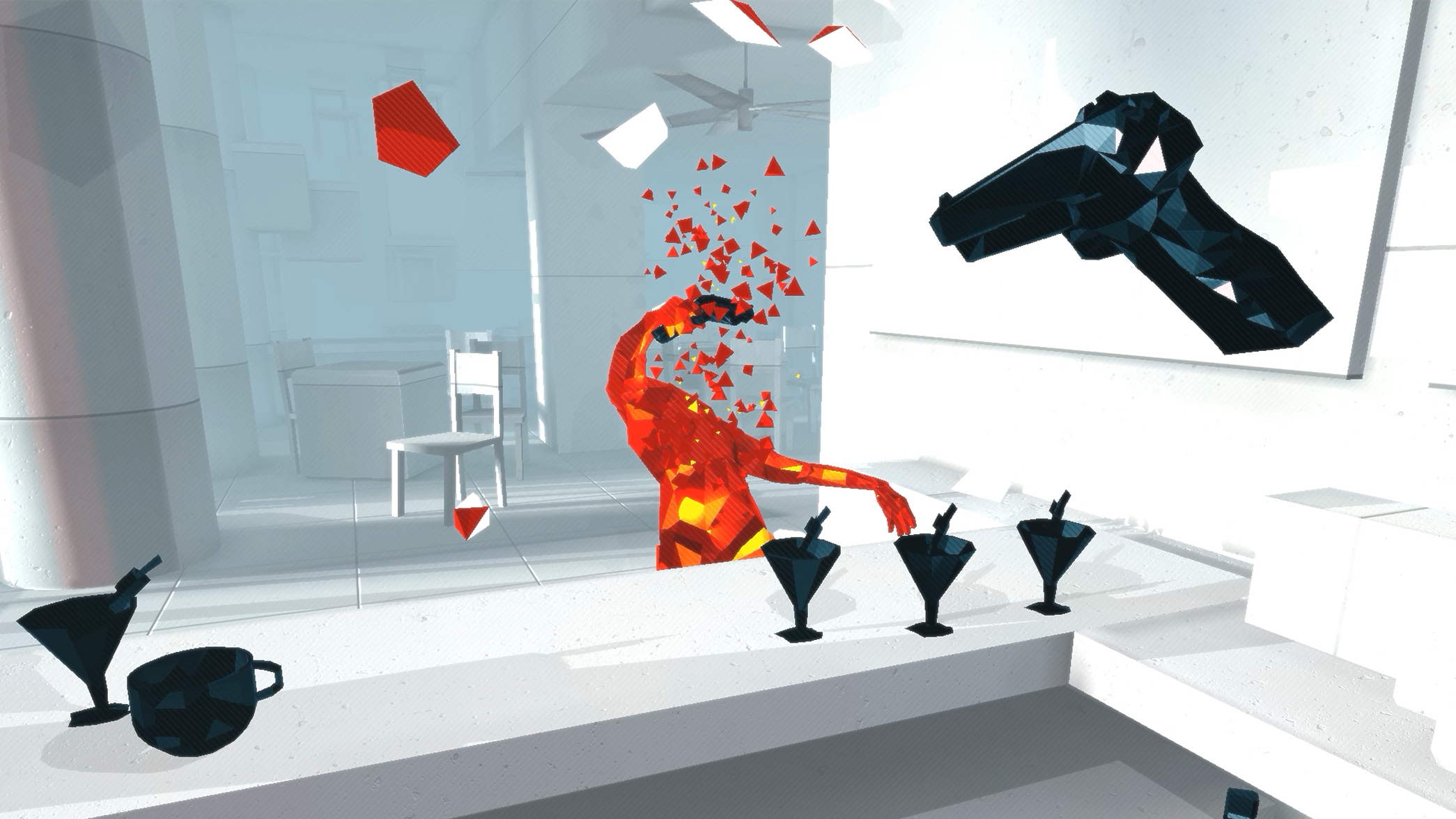 Superhot VR bar fight