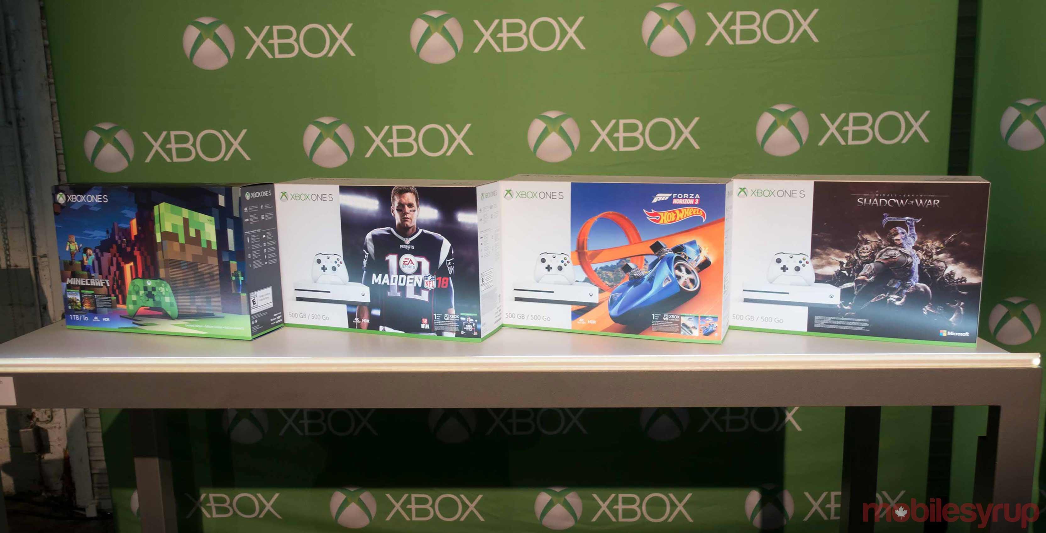 Xbox One S four bundles