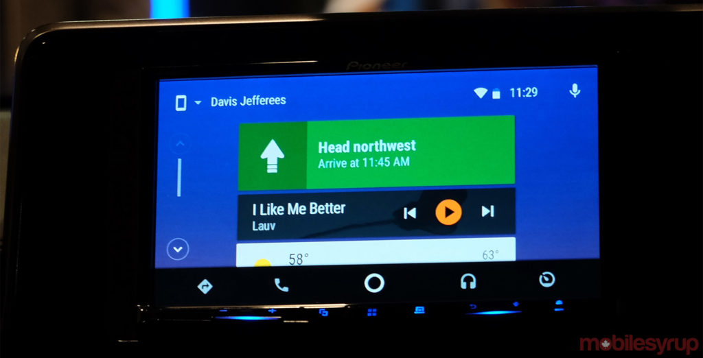 android auto with google assistant hands on talking to the road. Black Bedroom Furniture Sets. Home Design Ideas