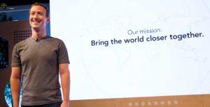 Facebook Zuckerberg declaración de la misión