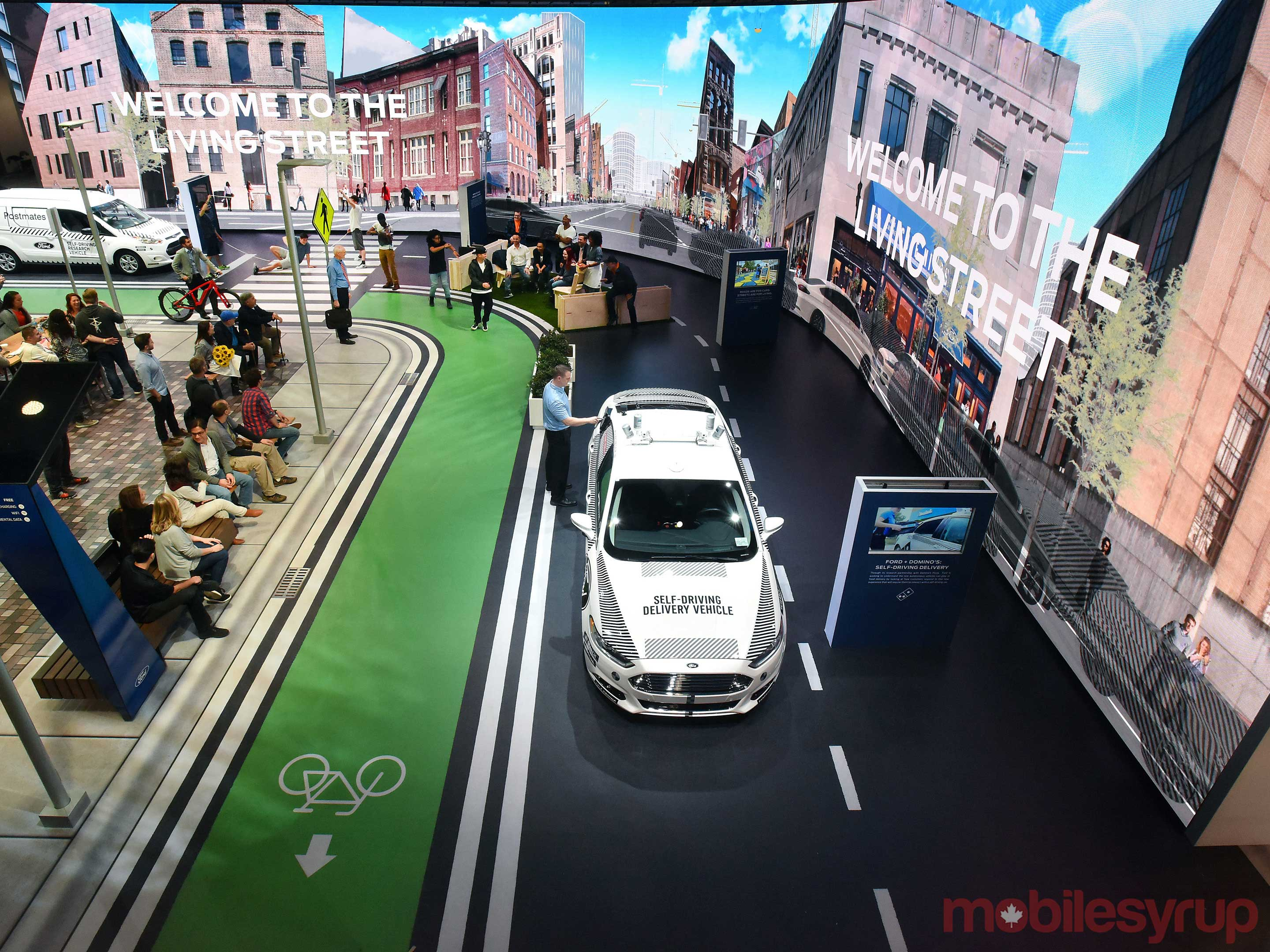 Ford at CES living street demo