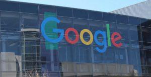 logotipo de Google en la construcción de