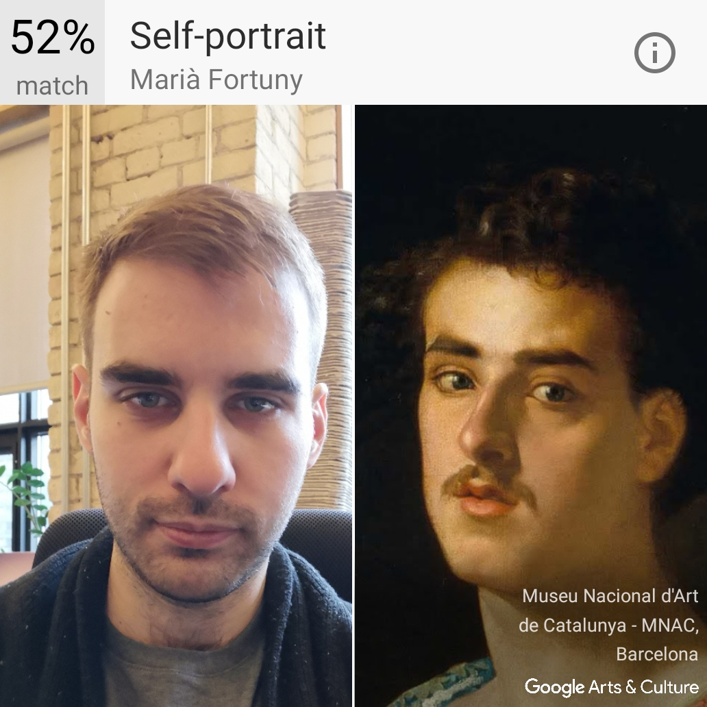 Igor's arts and culture selfie