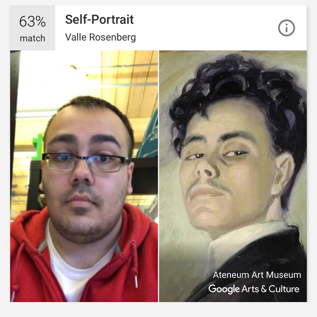 Brad's Arts and Culture selfie