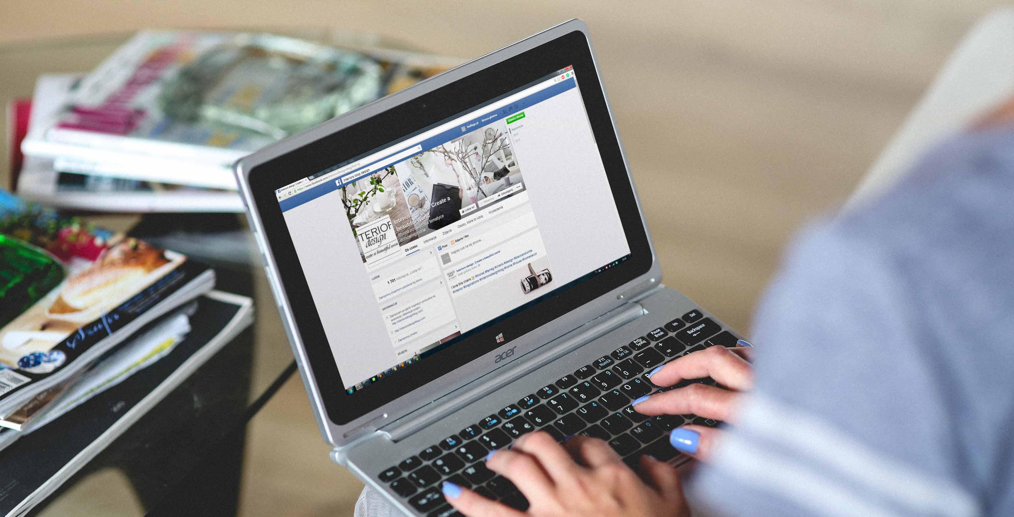 facebook on computer