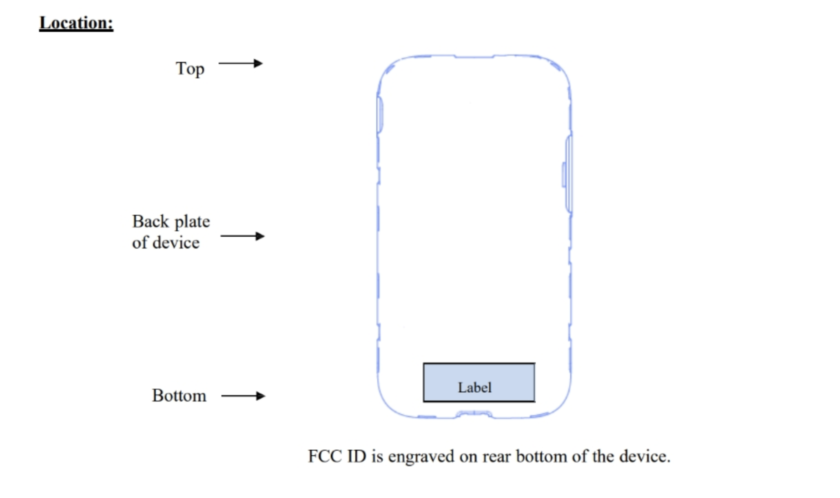 The Galaxy S9's FCC diagram
