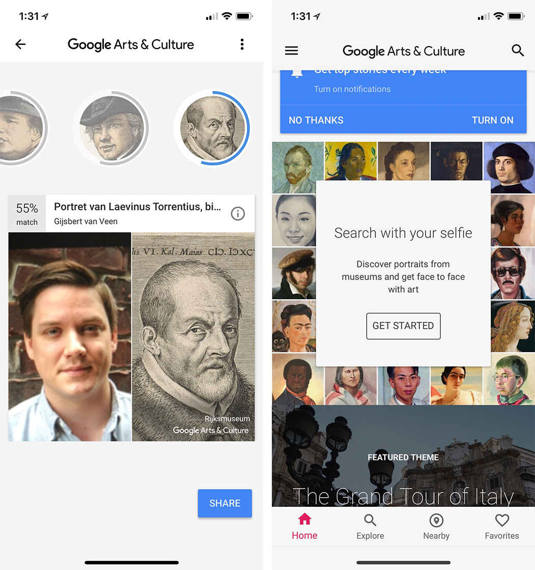 Google Arts & Culture iOS App Launches Museum Selfies in Canada