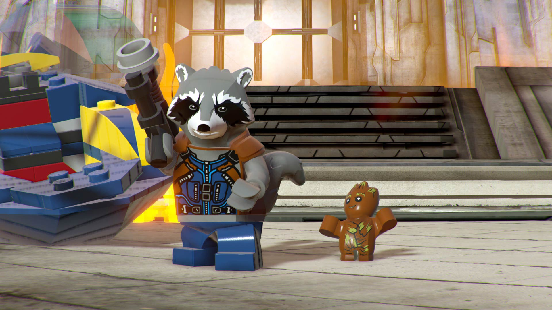 Lego Rocket Raccoon and Groot