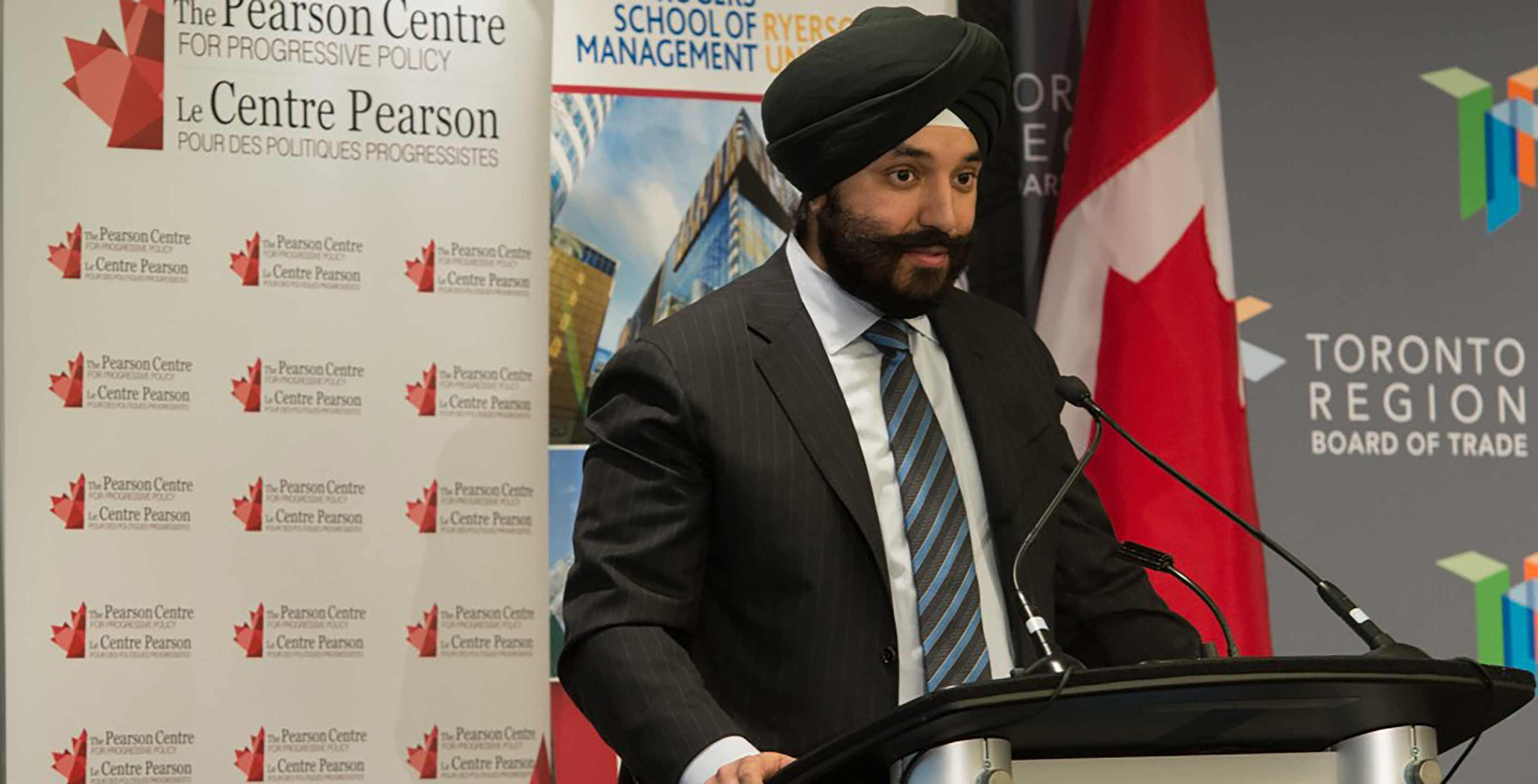 Navdeep Bains speaking
