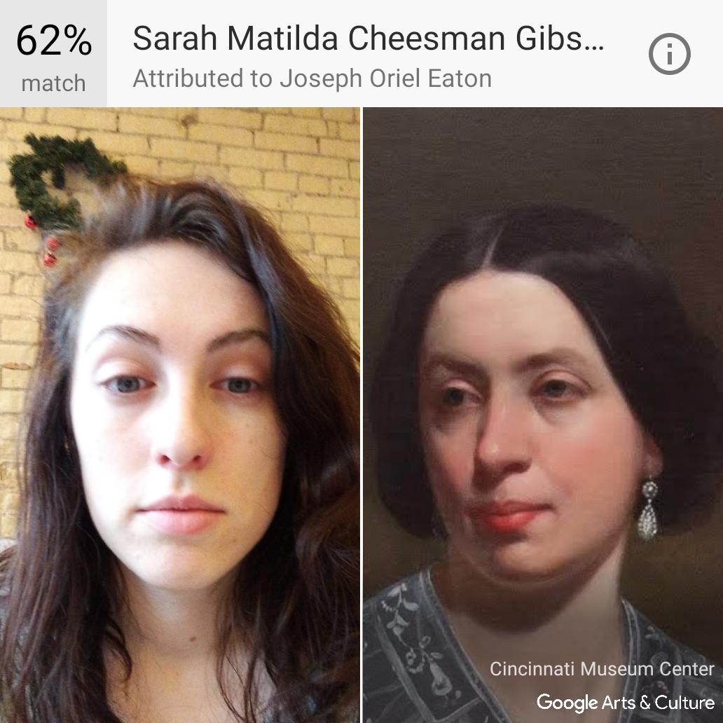 Rose's Google Arts and Culture selfie