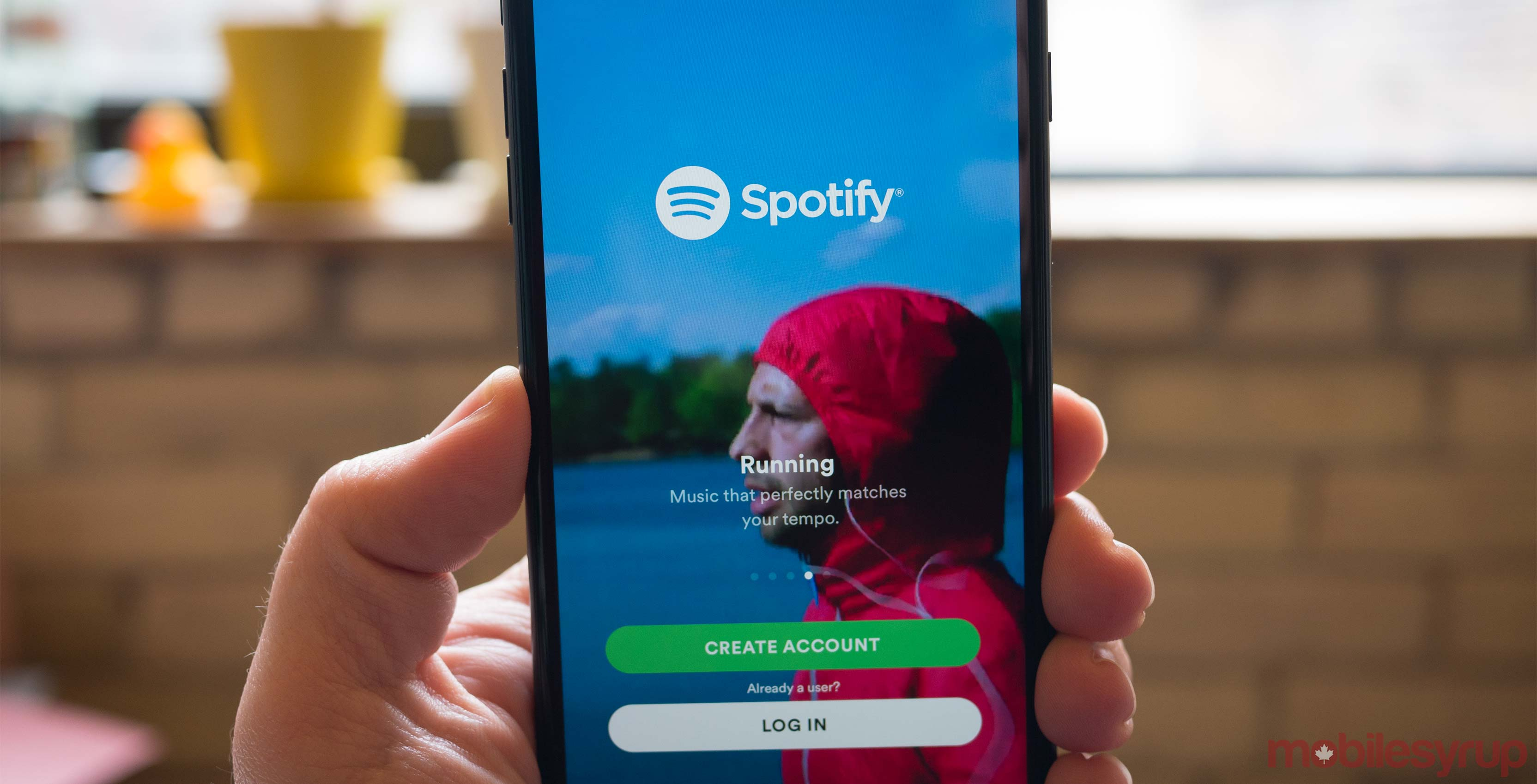 Spotify app on phone