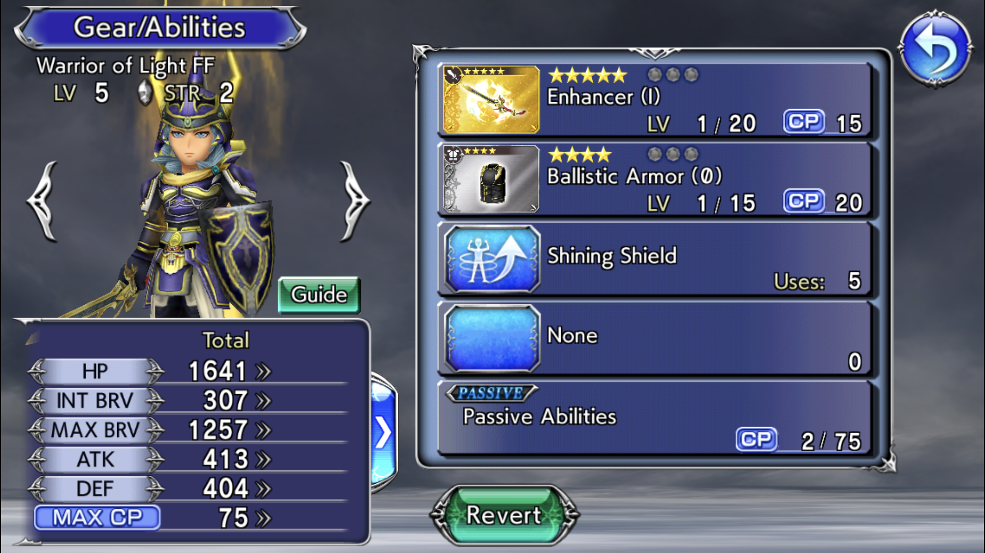 Dissidia Final Fantasy Opera Omnia Warrior of Light
