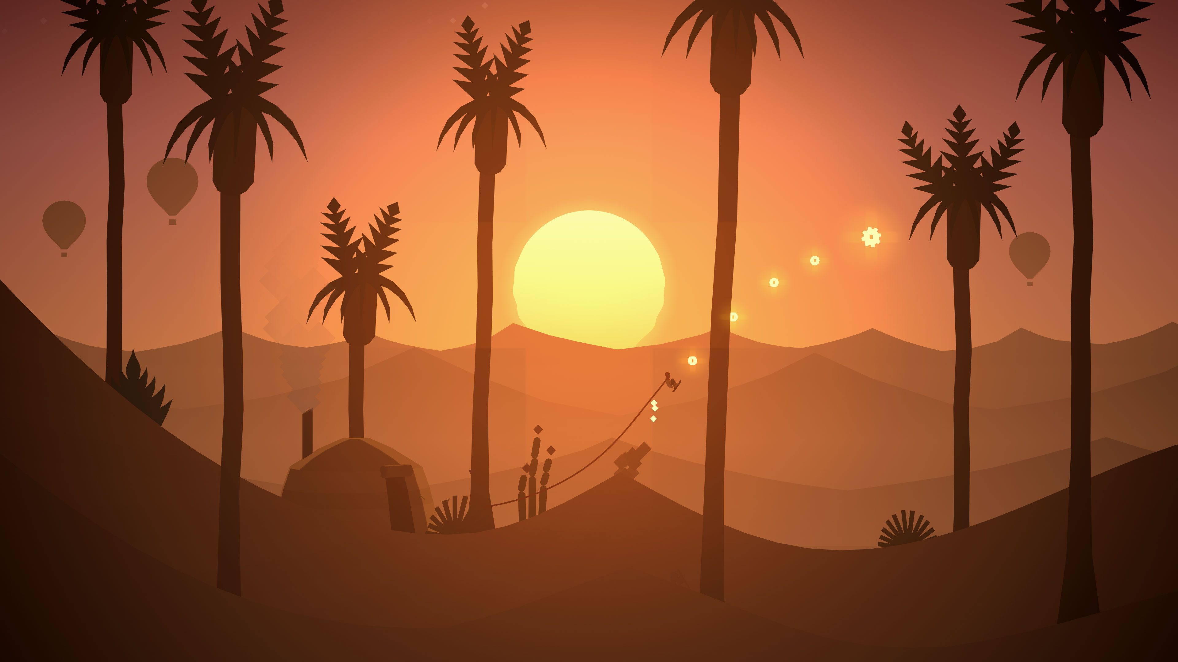 Sandboard across an endless desert in Alto's Odyssey