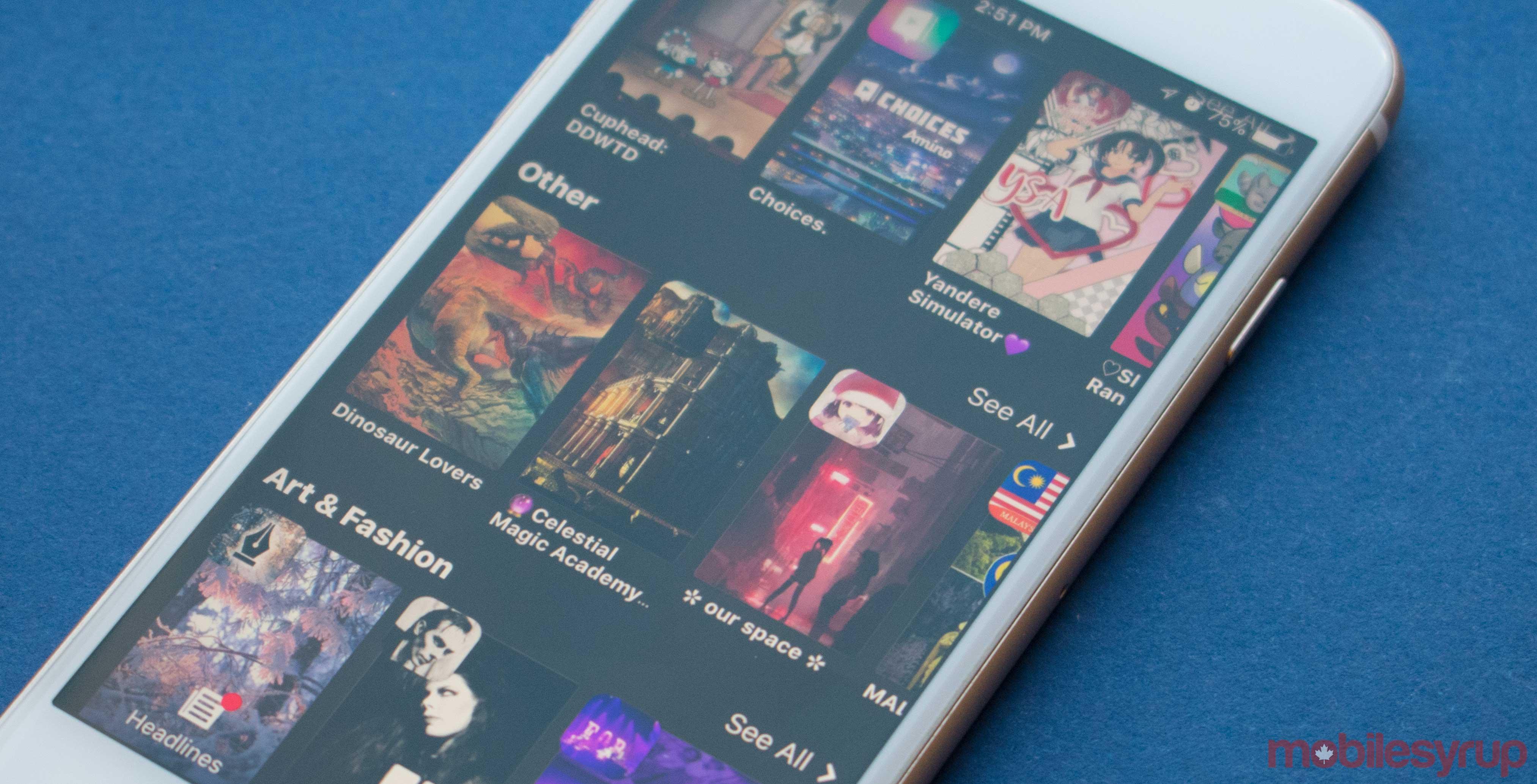Amino social media app