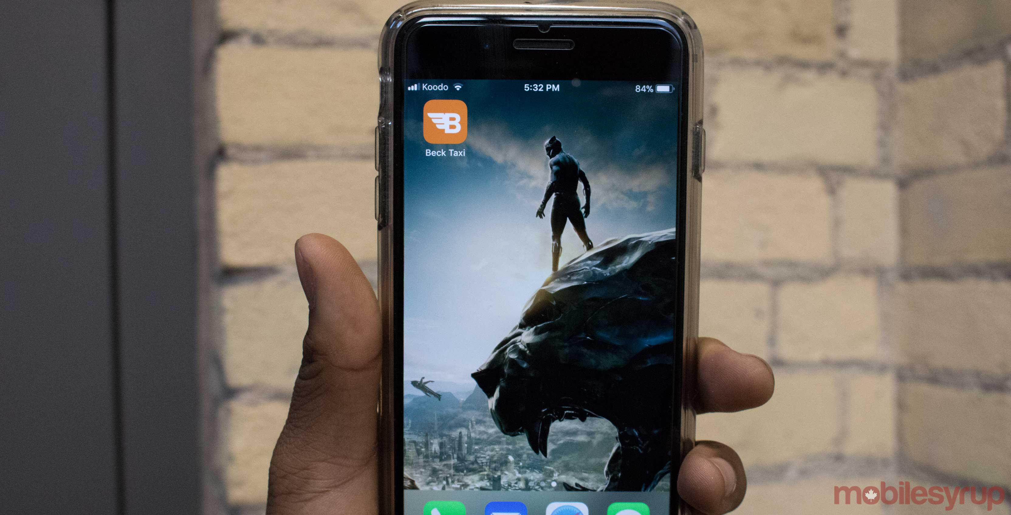Beck Taxi app on iPhone