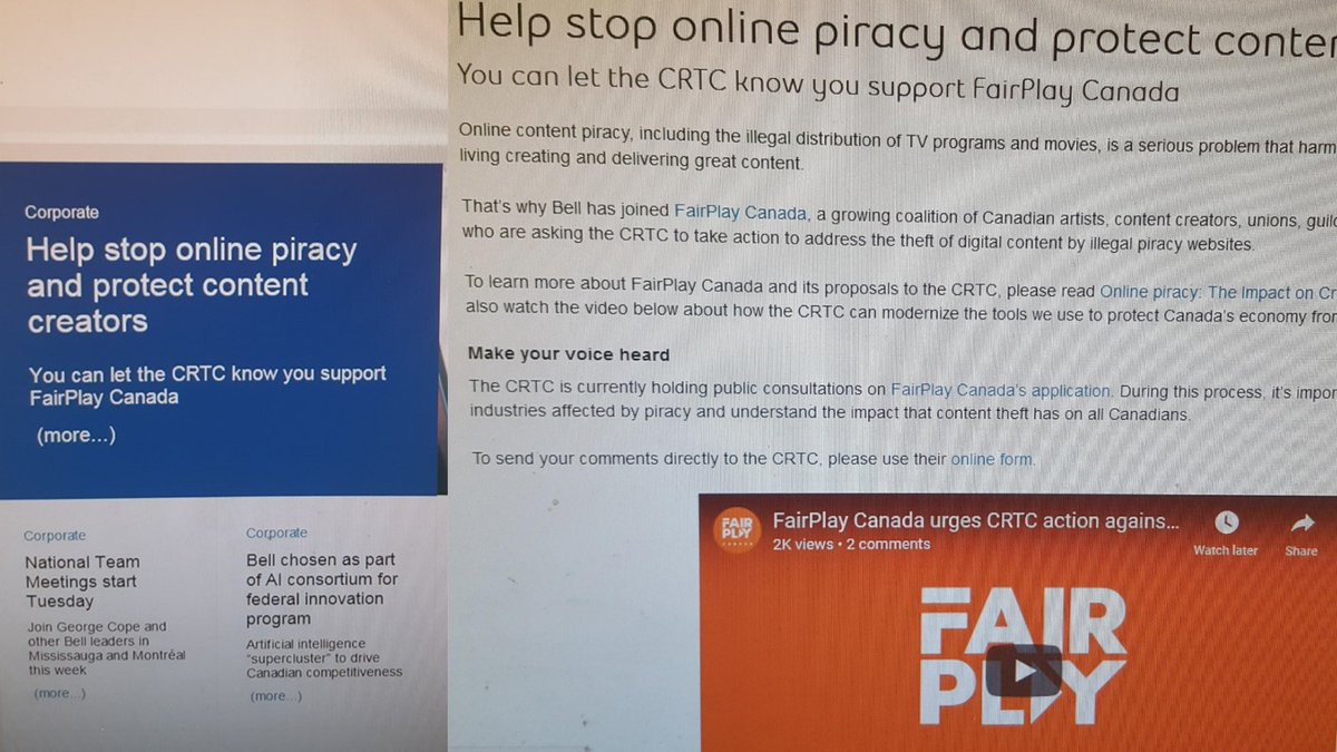 The email Bell sent to employees, encouraging them to support the carrier's FairPlay initiative