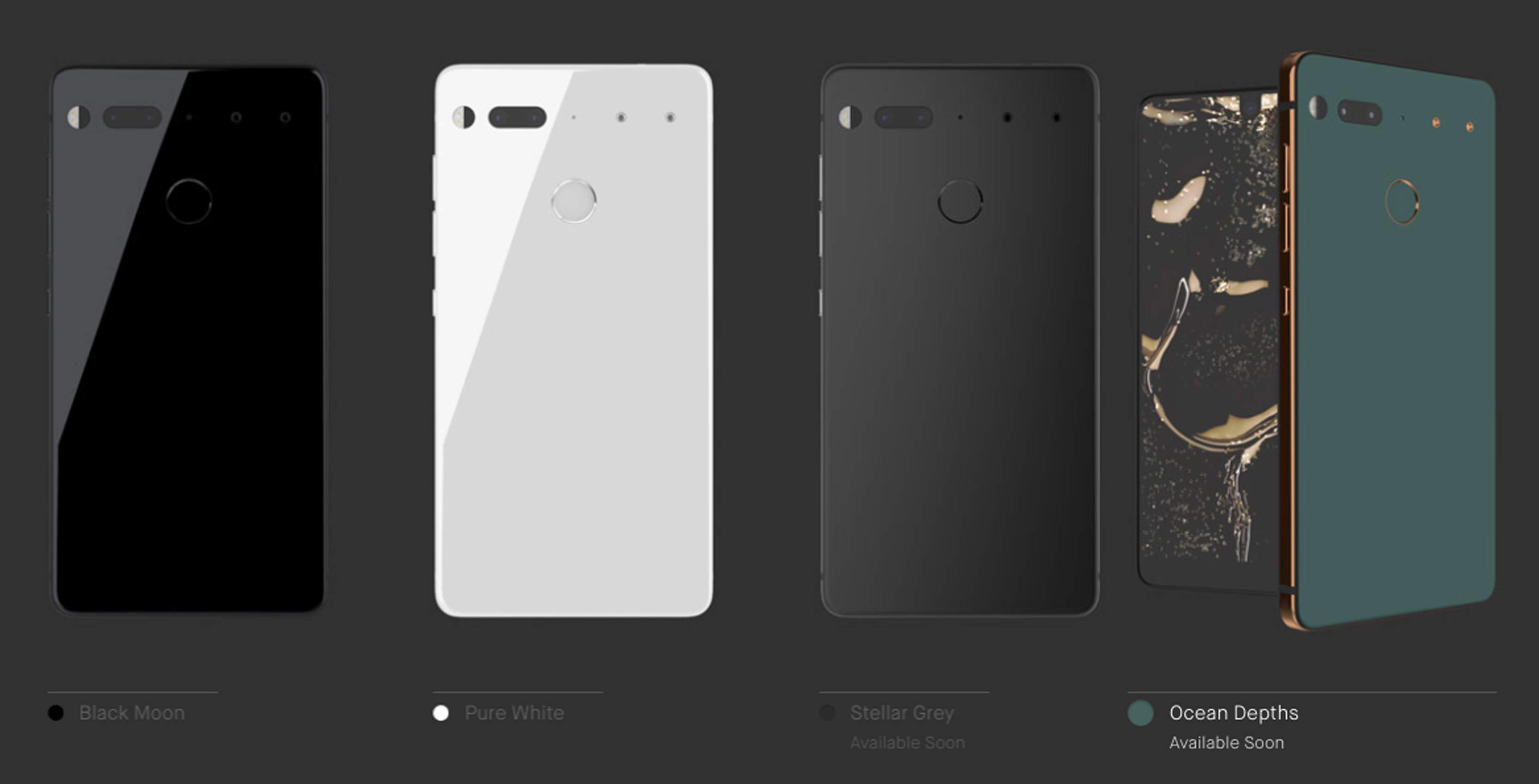 Essential Phone colours