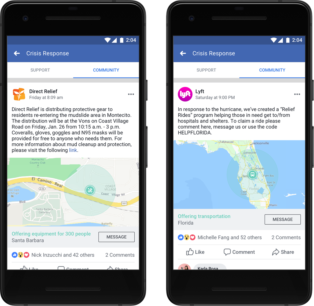 Facebook Community Help Pages