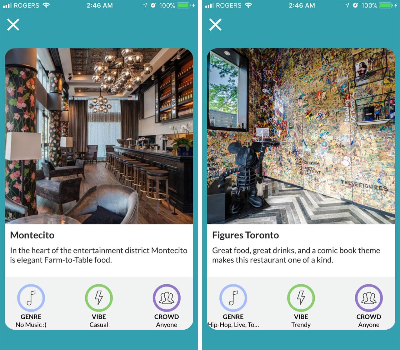 The Jukebox App info cards