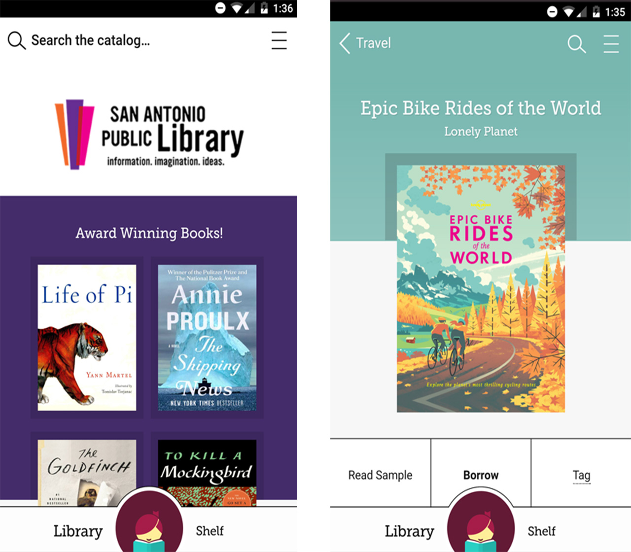 Borrow e-books and audiobooks from your local library with Libby