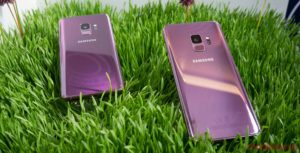 The Galaxy S9 in pink