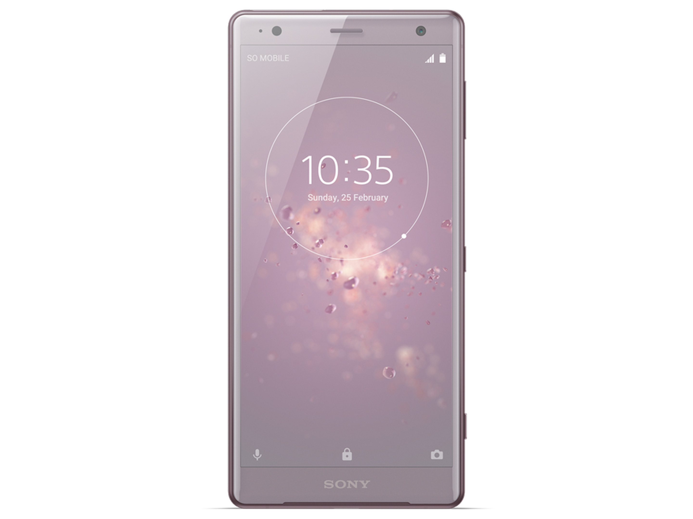 The Xperia XZ2 in 'ash pink'
