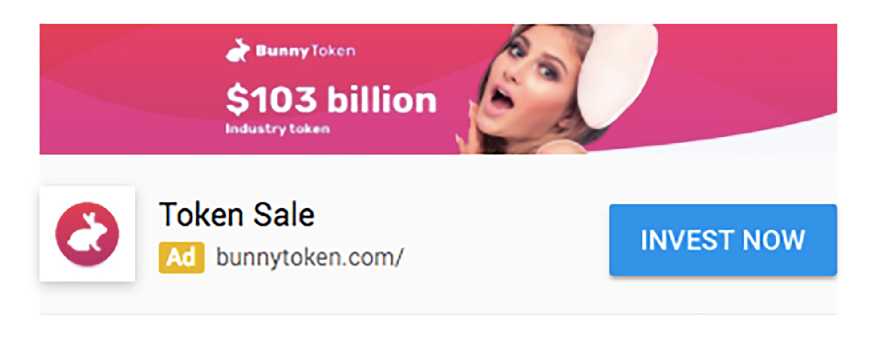 An example of a crypto currency ad from Google's Adsense platform