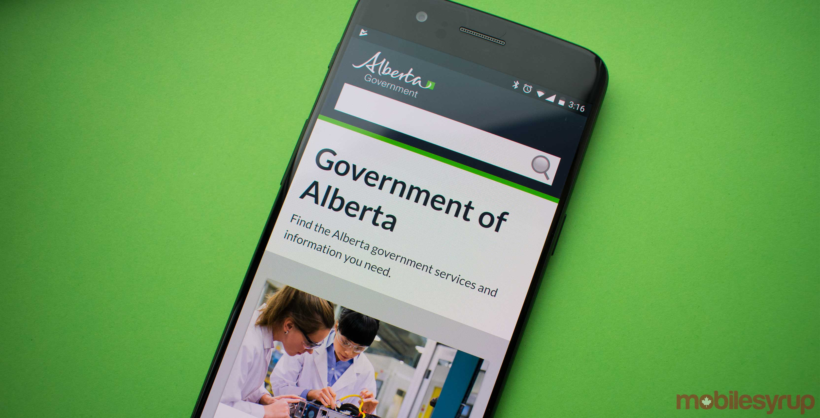 Government of Alberta website