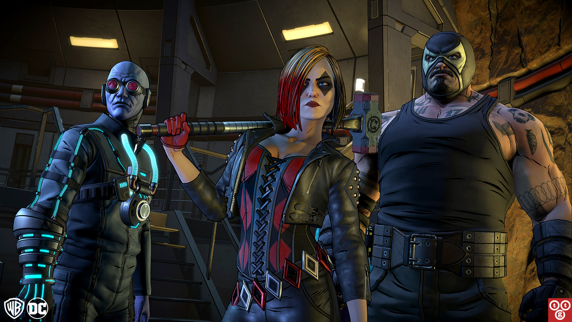 Mr. Freeze, Harley Quinn and Bane