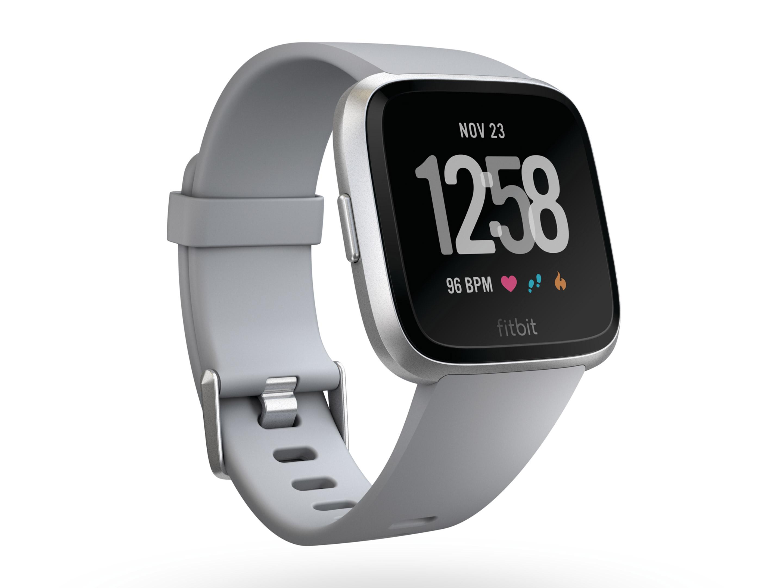 Fitbit's Versa smartwatch in white