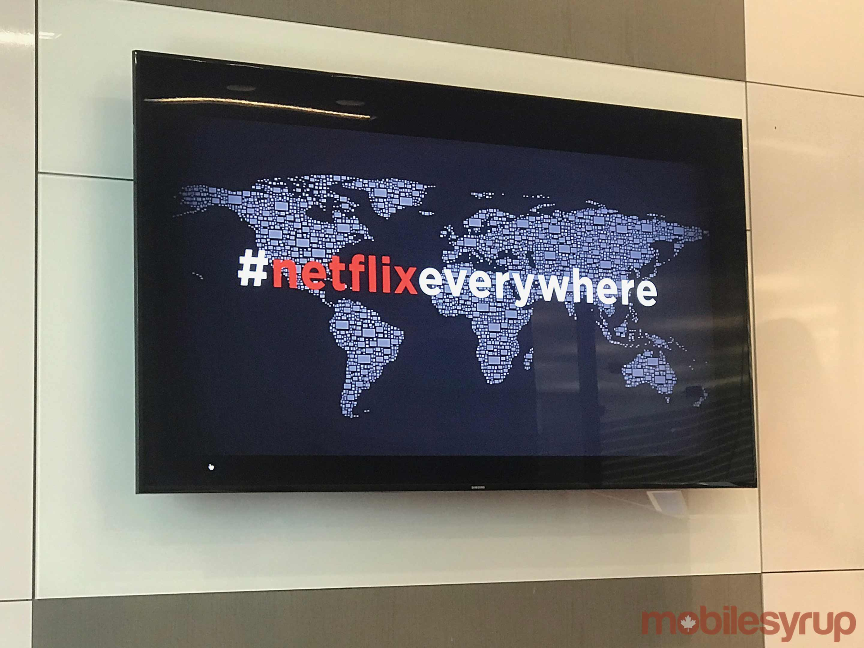 Netflix Everywhere message on TV