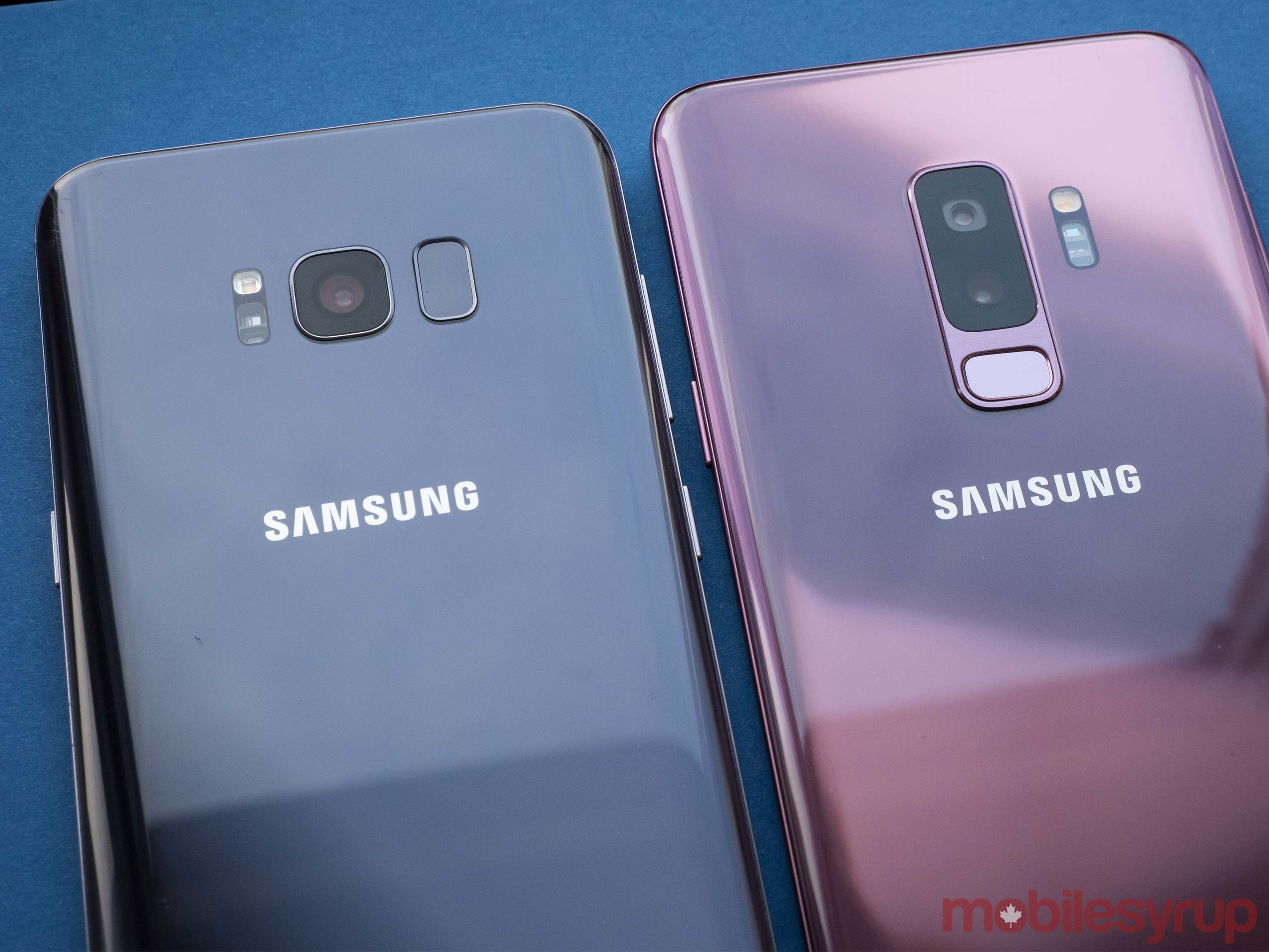 Side-by-side of the S9 and S8