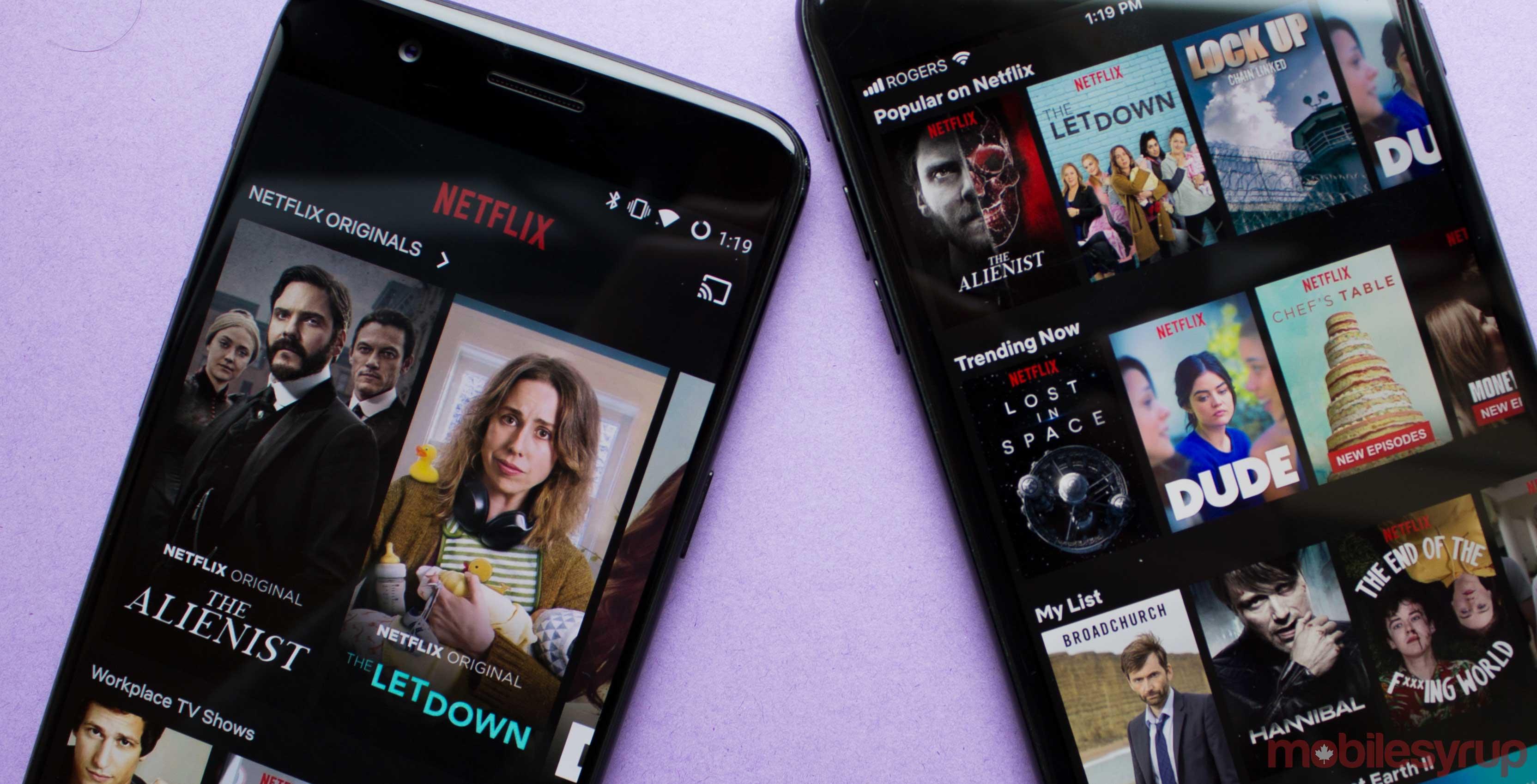Netflix on phones