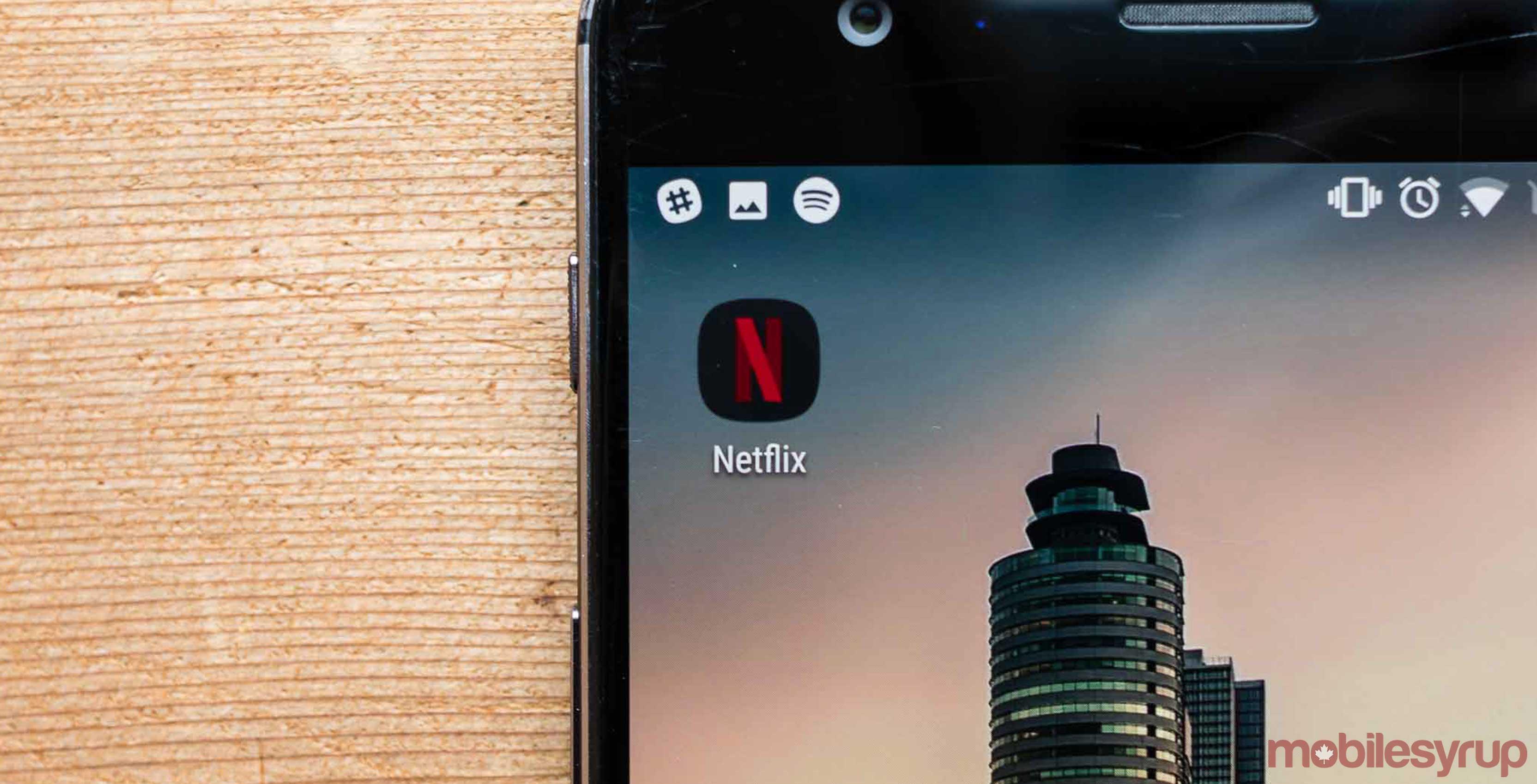 Netflix app on phone