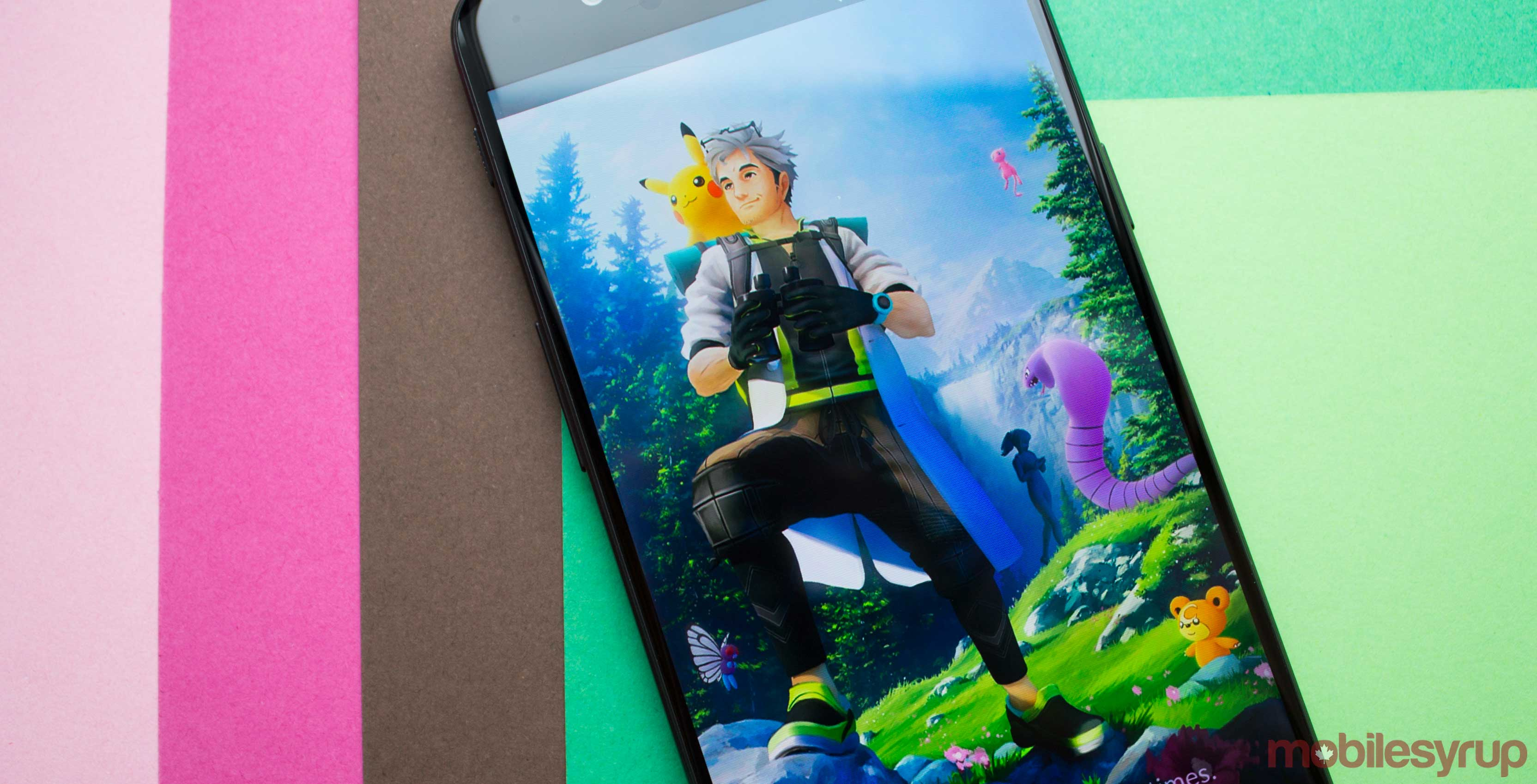 Pokémon Go wallpaper on phone