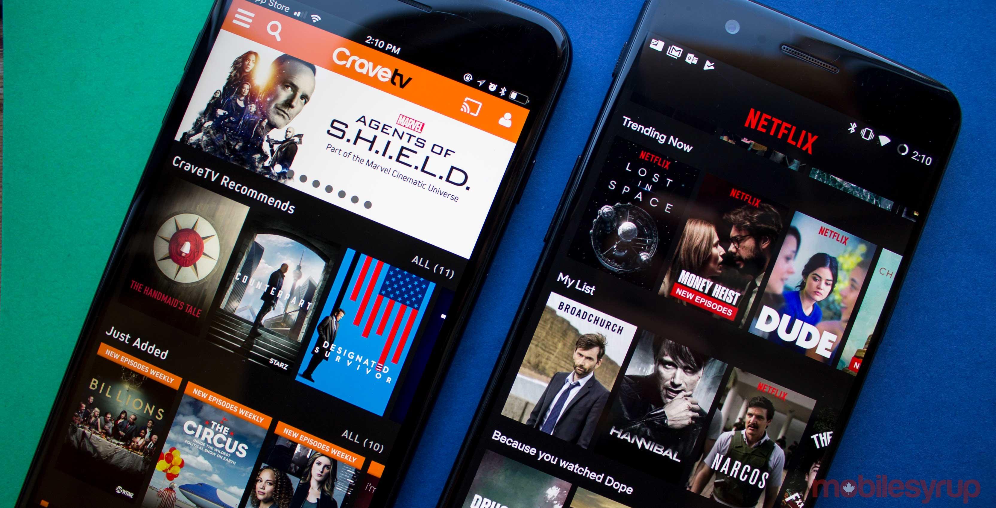 CraveTV and Netflix