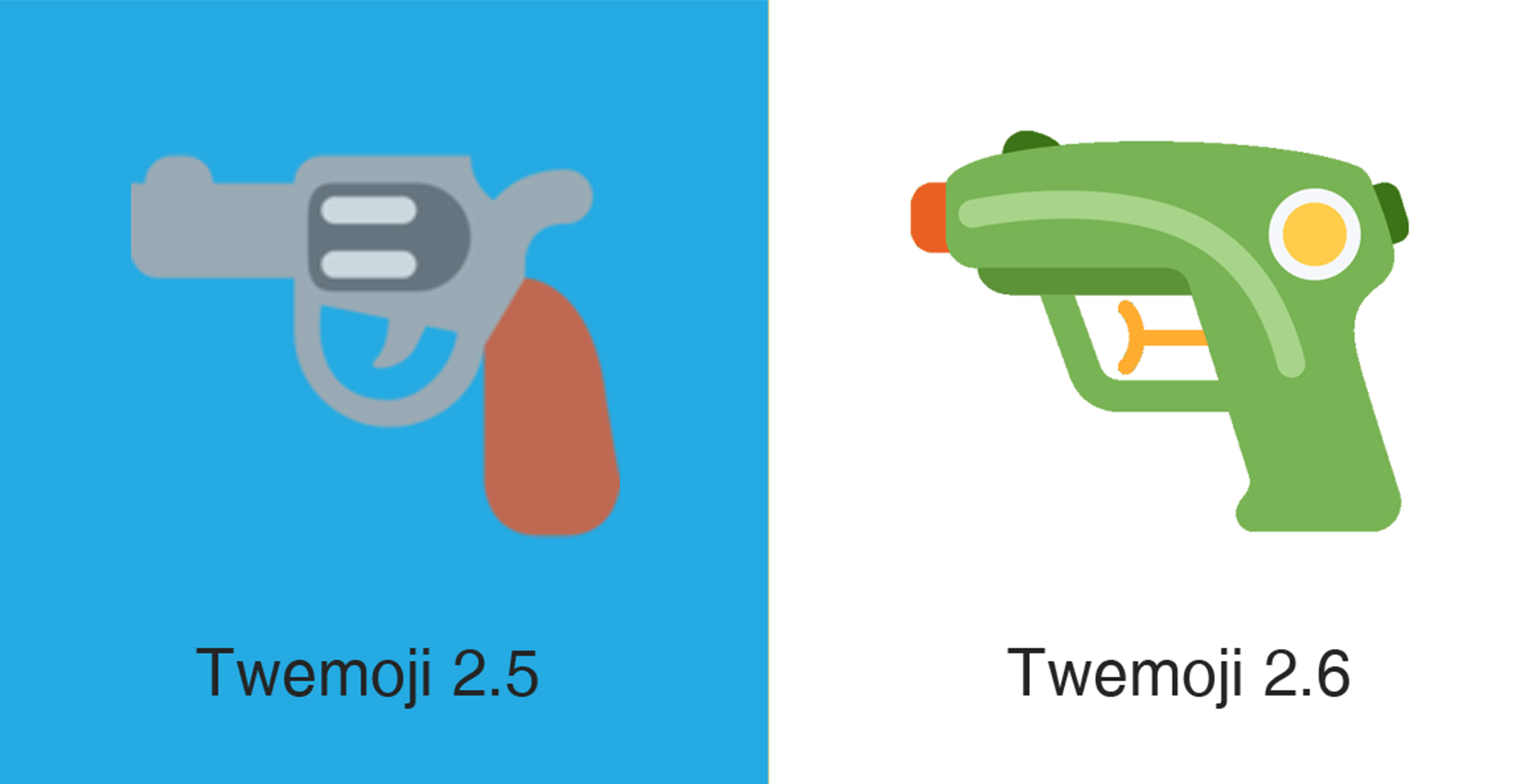 Twitter replaces gun emoji with a water pistol