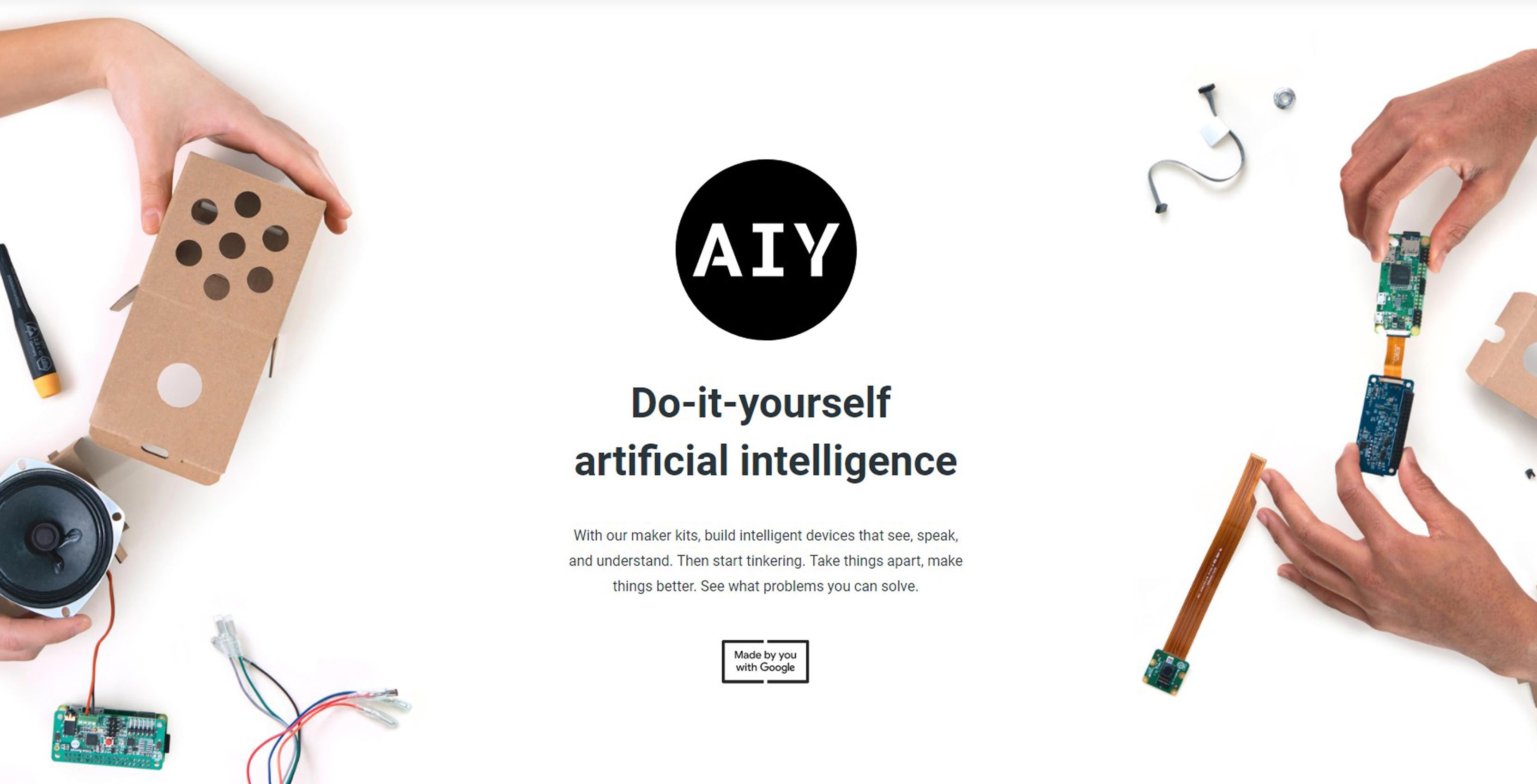 Build your own smart speaker or camera with googles aiy projects if youre a frequent mobilesyrups reader youll know were big fans of do it yourself maker kits theres just something rad about products that encourage solutioingenieria Image collections