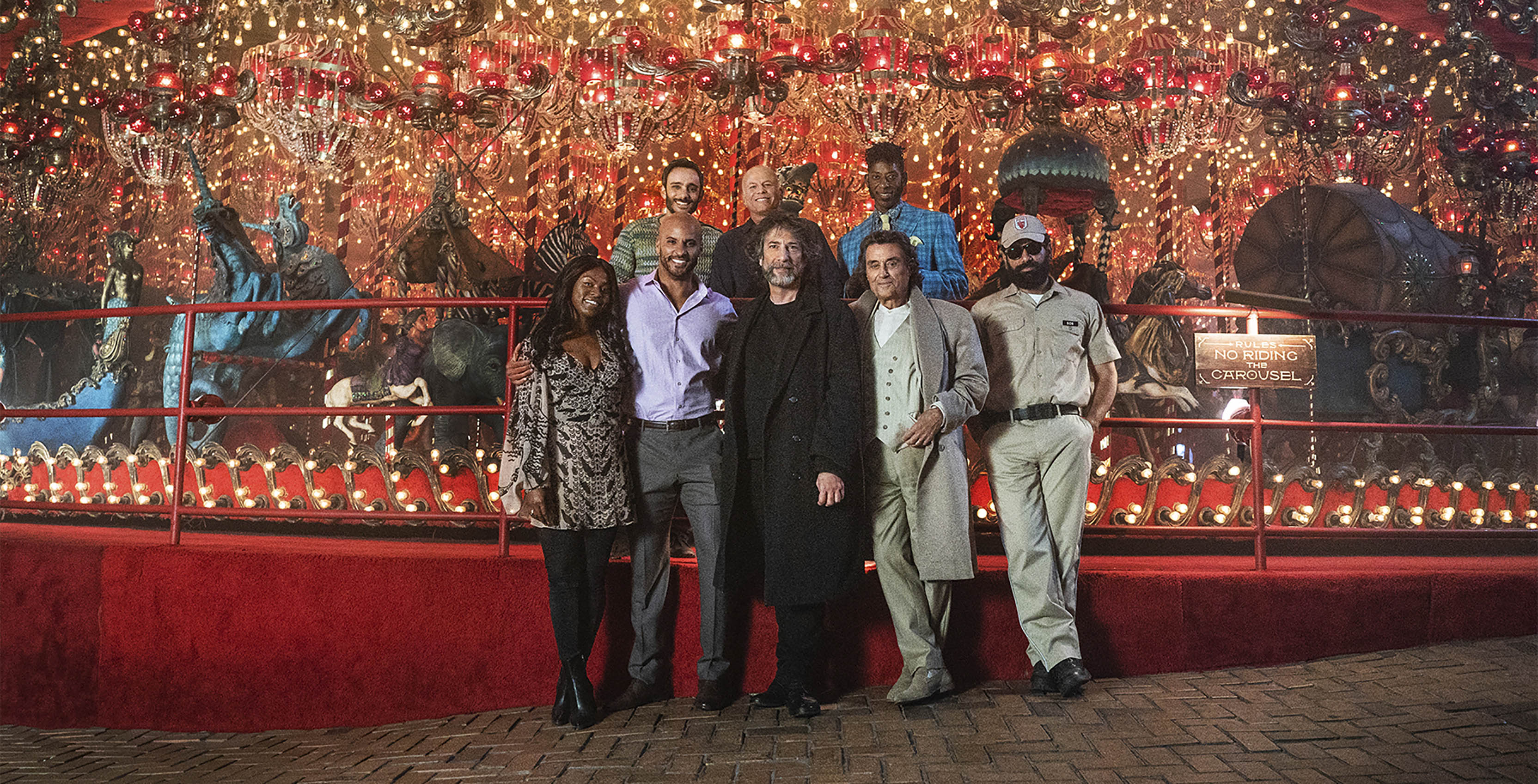 American Gods season two cast and Neil Gamen