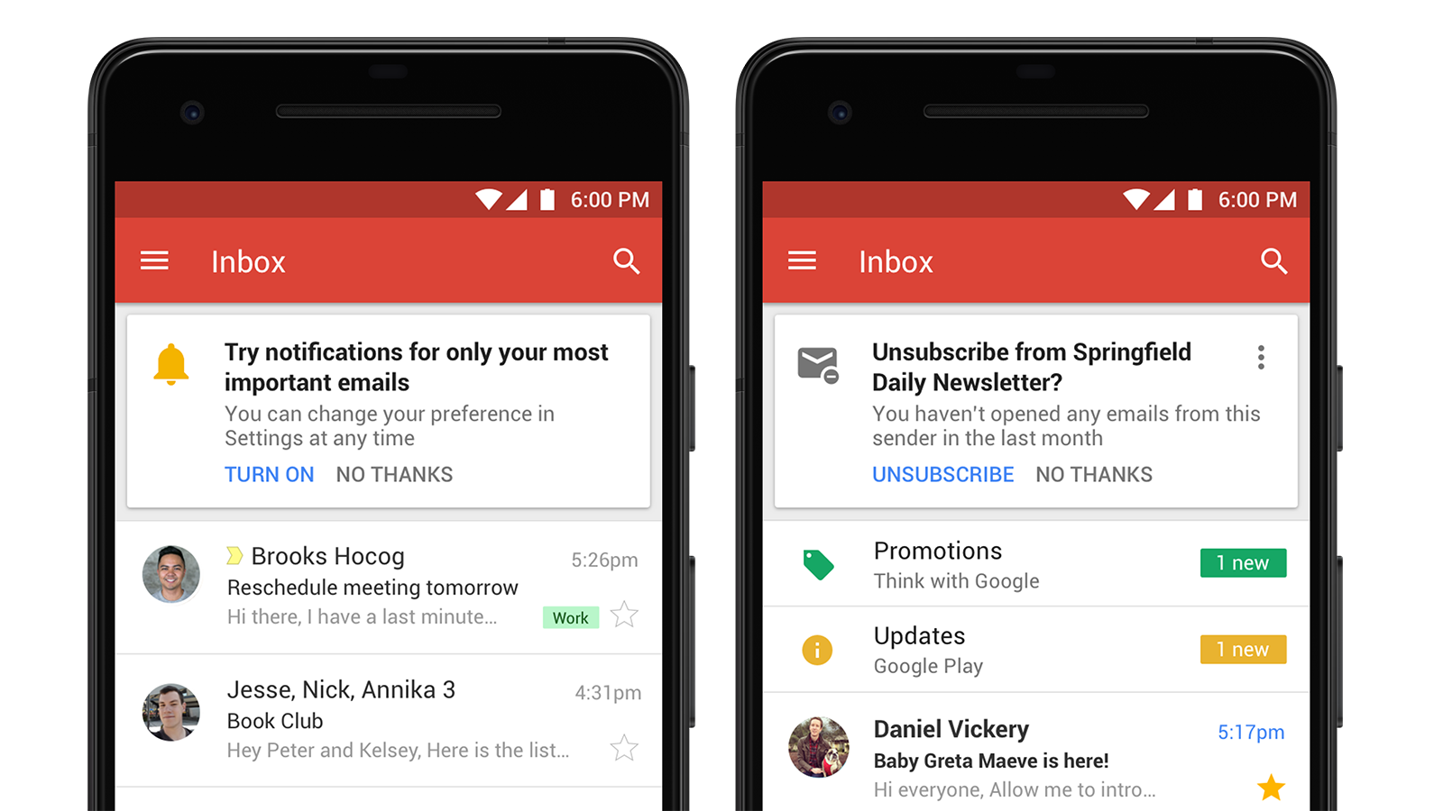Gmail's new unsubscribe feature