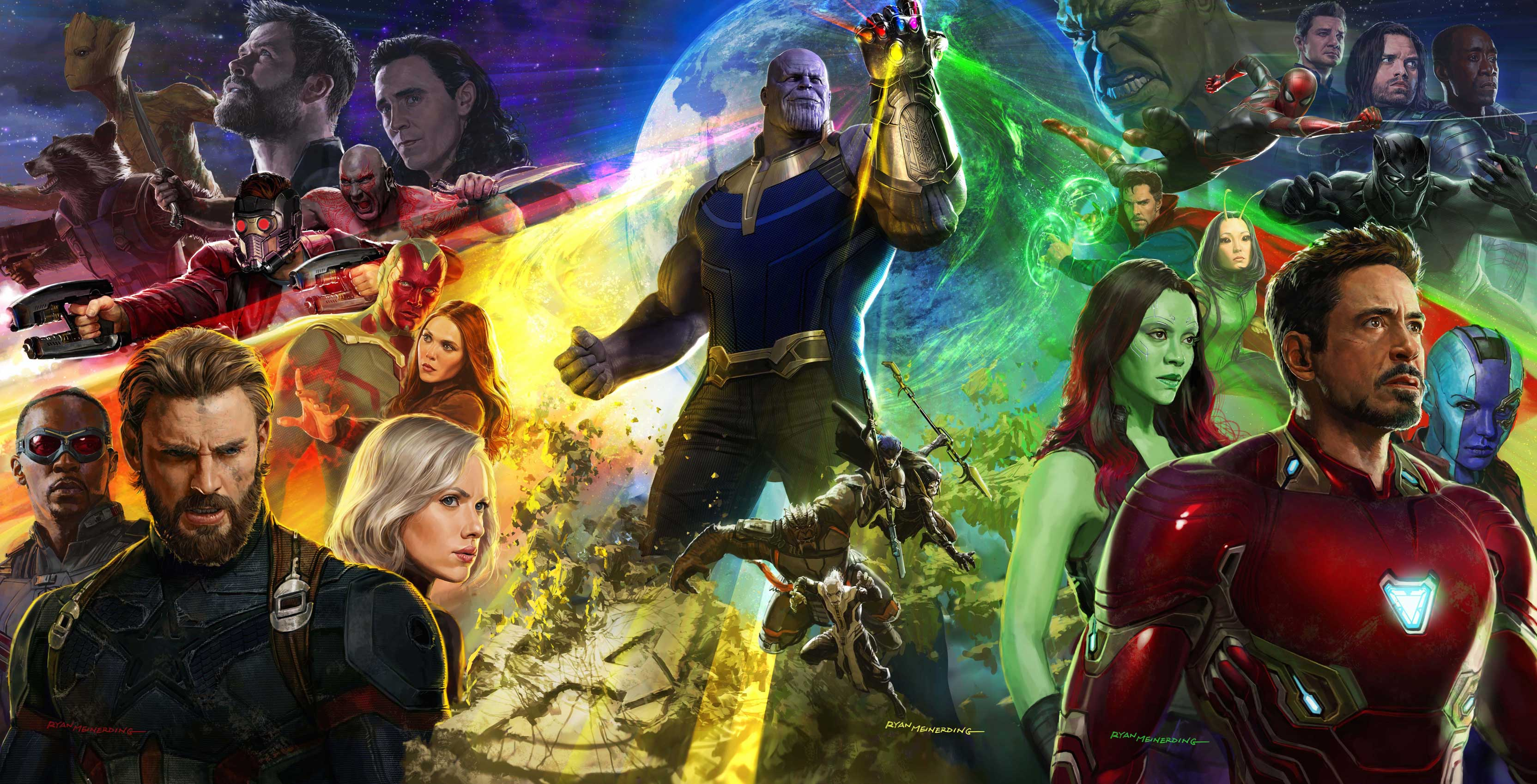 Avengers Infinity War around the universe