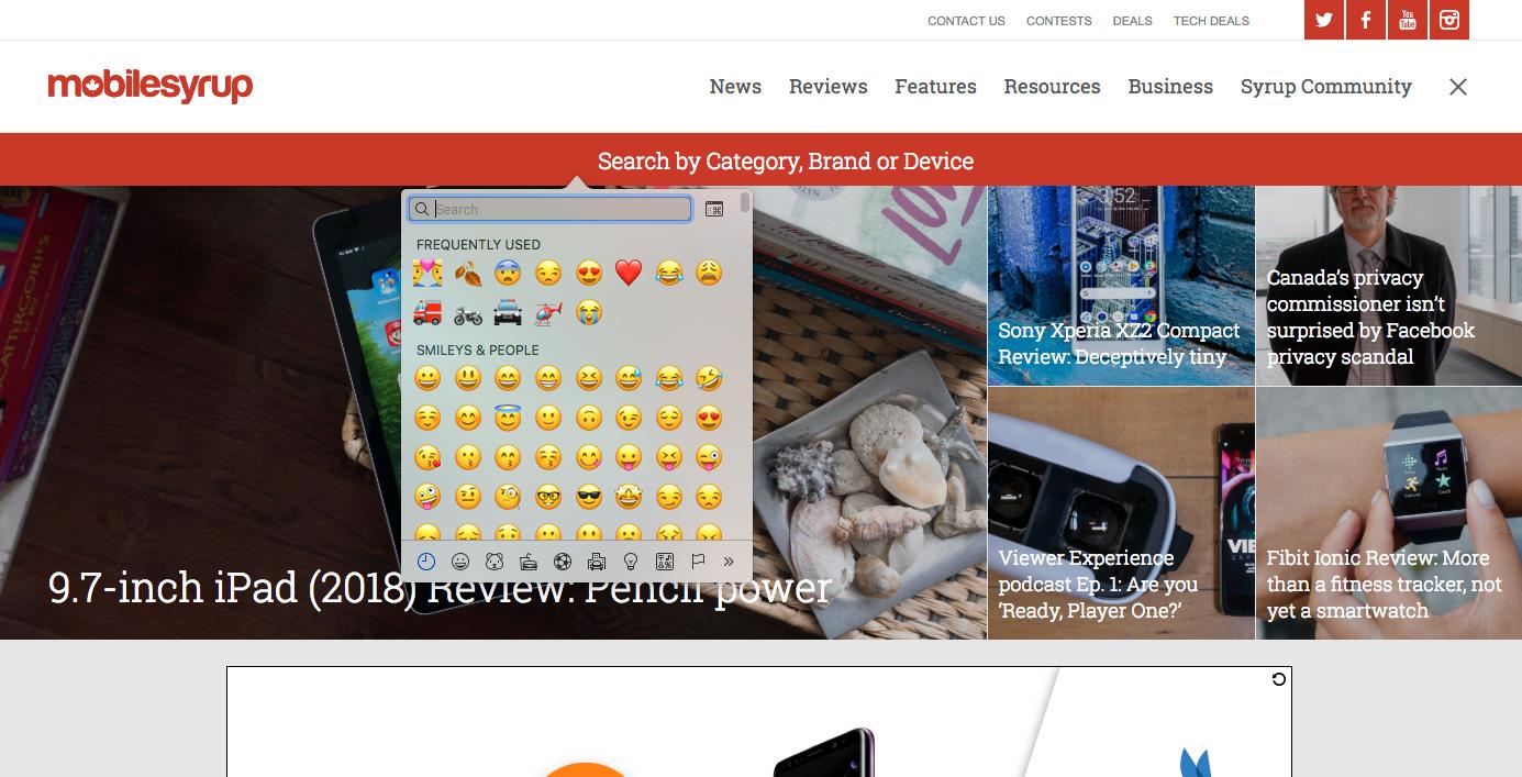 Chrome Canary Emoji feature